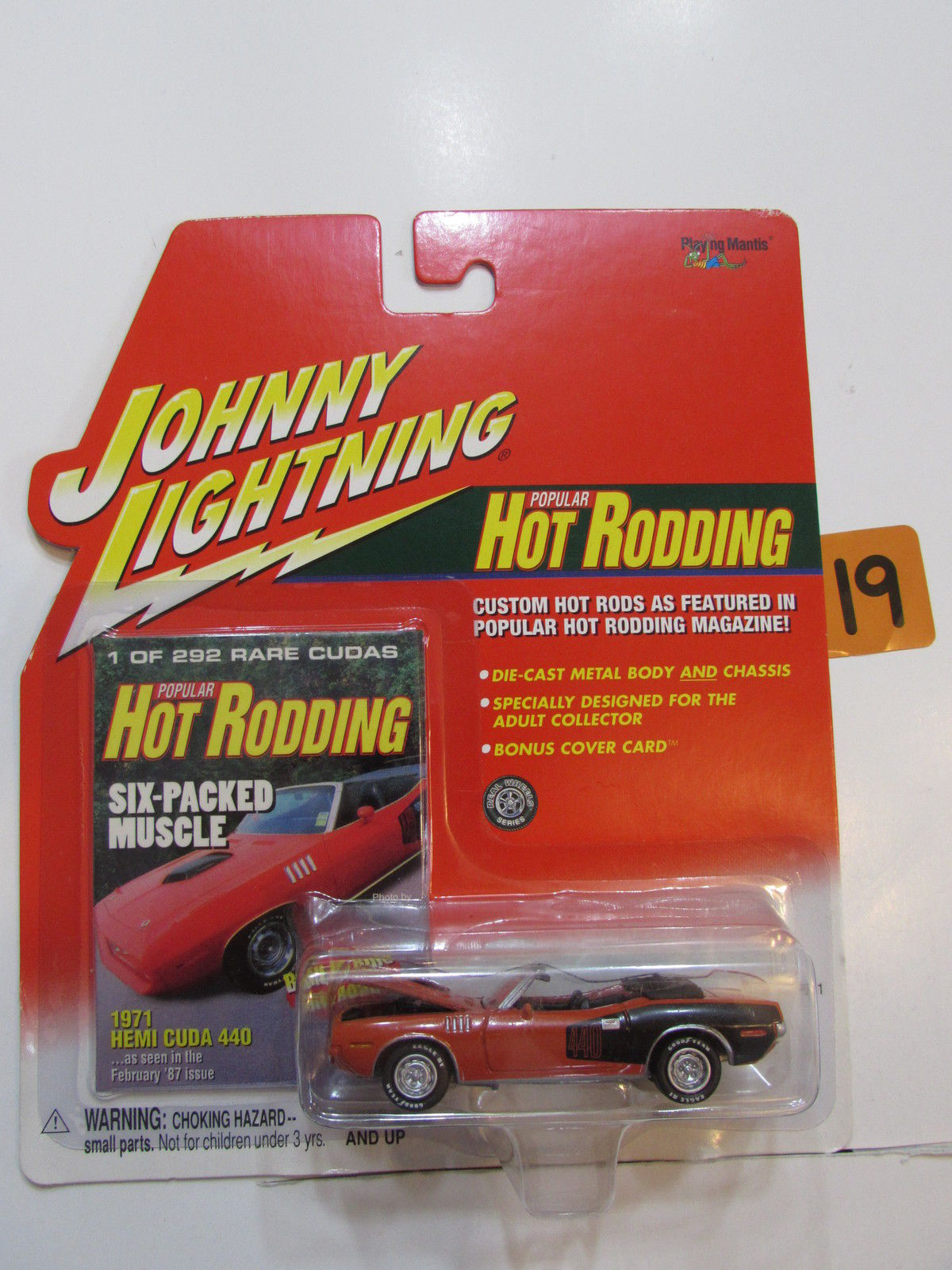 JOHNNY LIGHTNING 2001 HOT RODDING 1971 HEMI CUDA 440