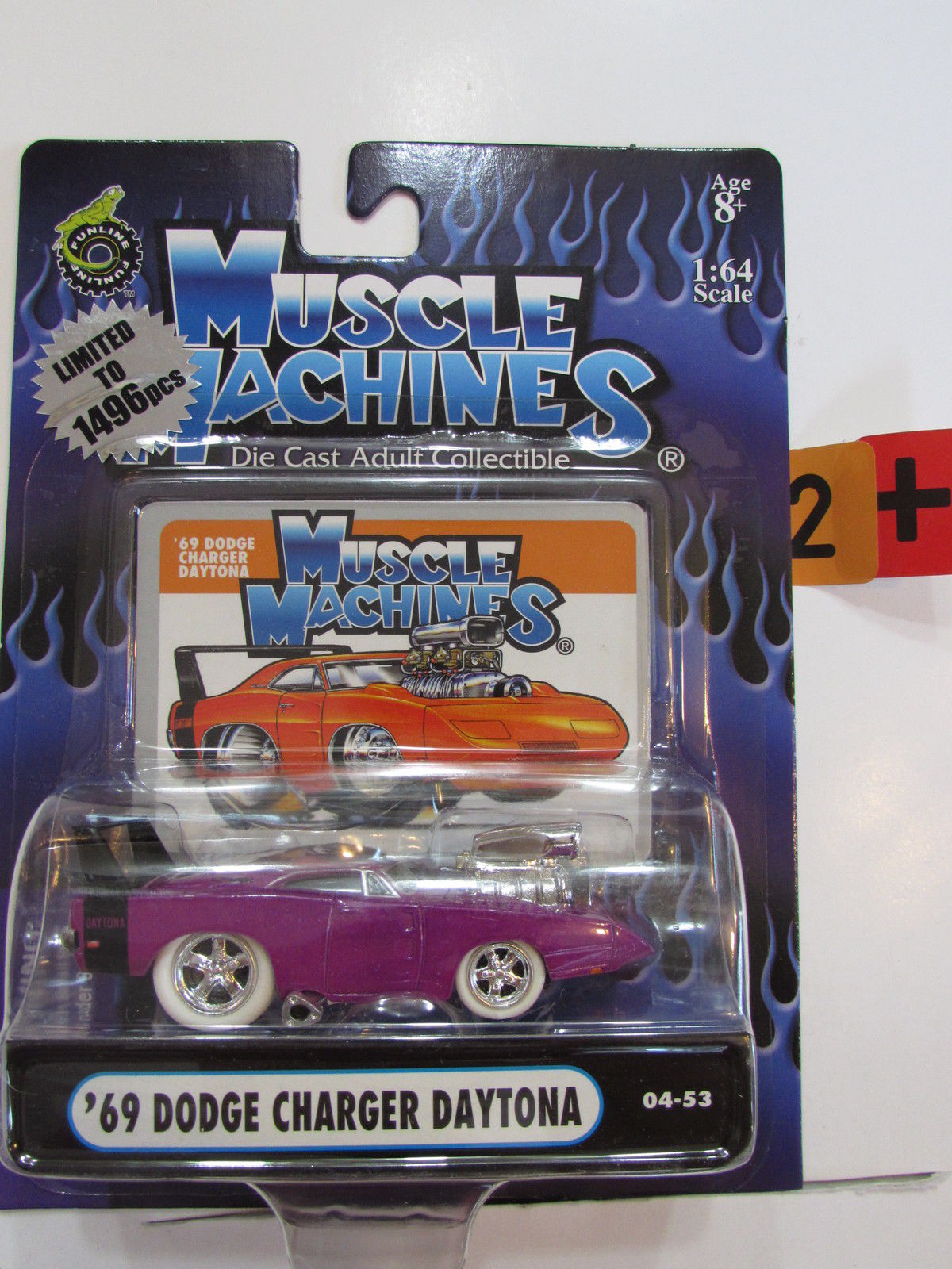 MUSCLE MACHINES '69 DODGE CHARGER DAYTONA CHASE SCALE 1:64