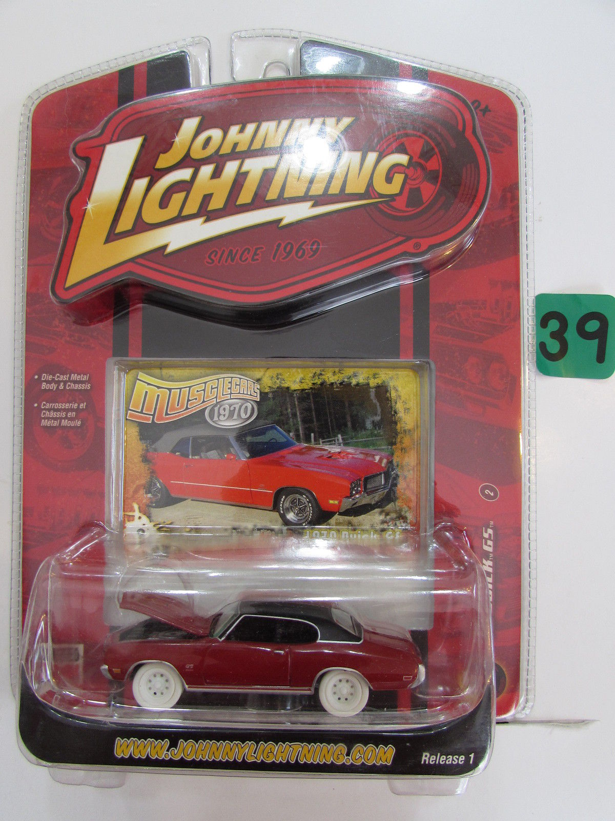 JOHNNY LIGHTNING MUSCLE CARS '70 BUICK GS #02 WHITE LIGHTNING