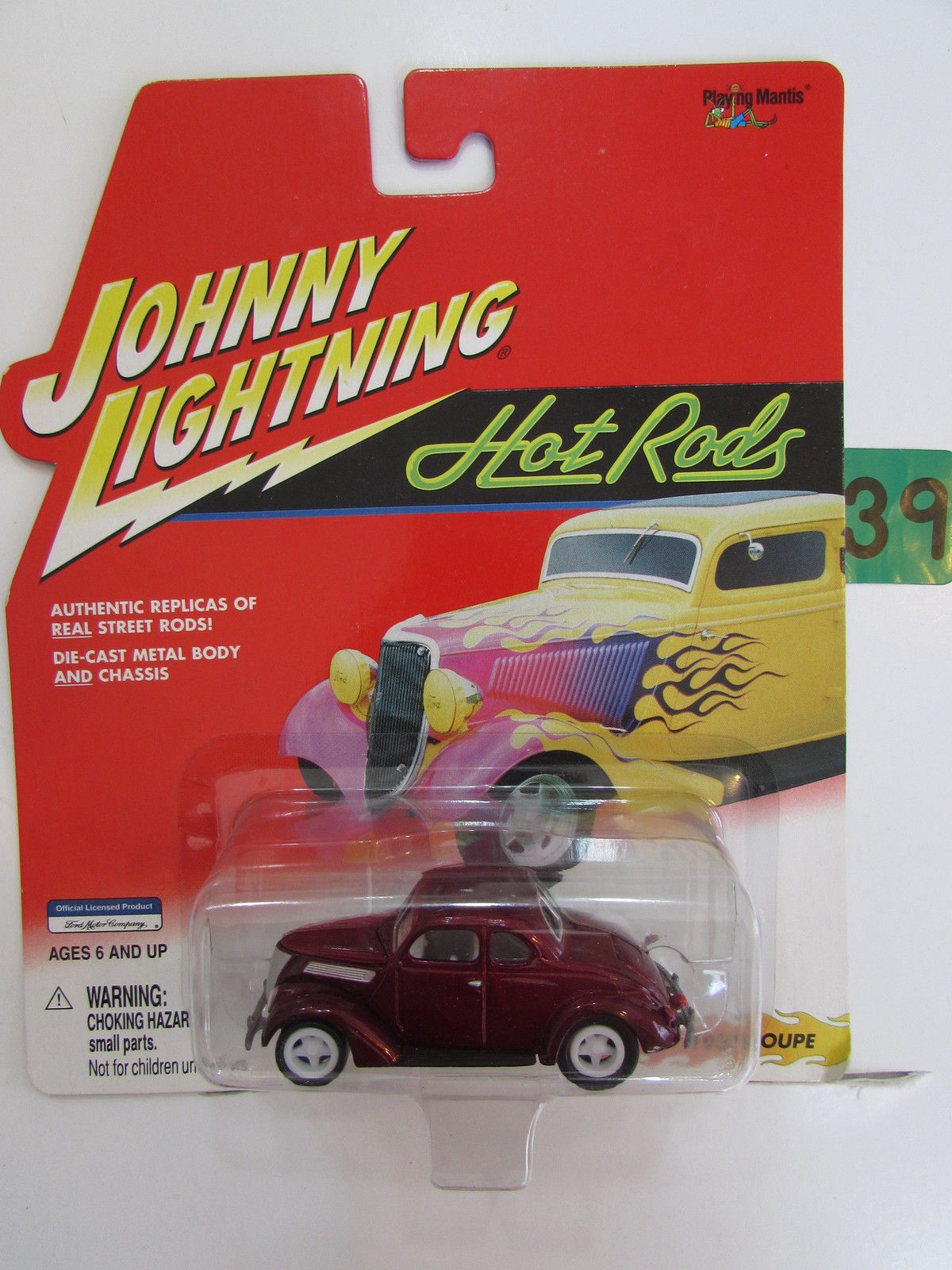 JOHNNY LIGHTNING 2001 HOT RODS 1937 COUPE - WHITE LIGHTNING
