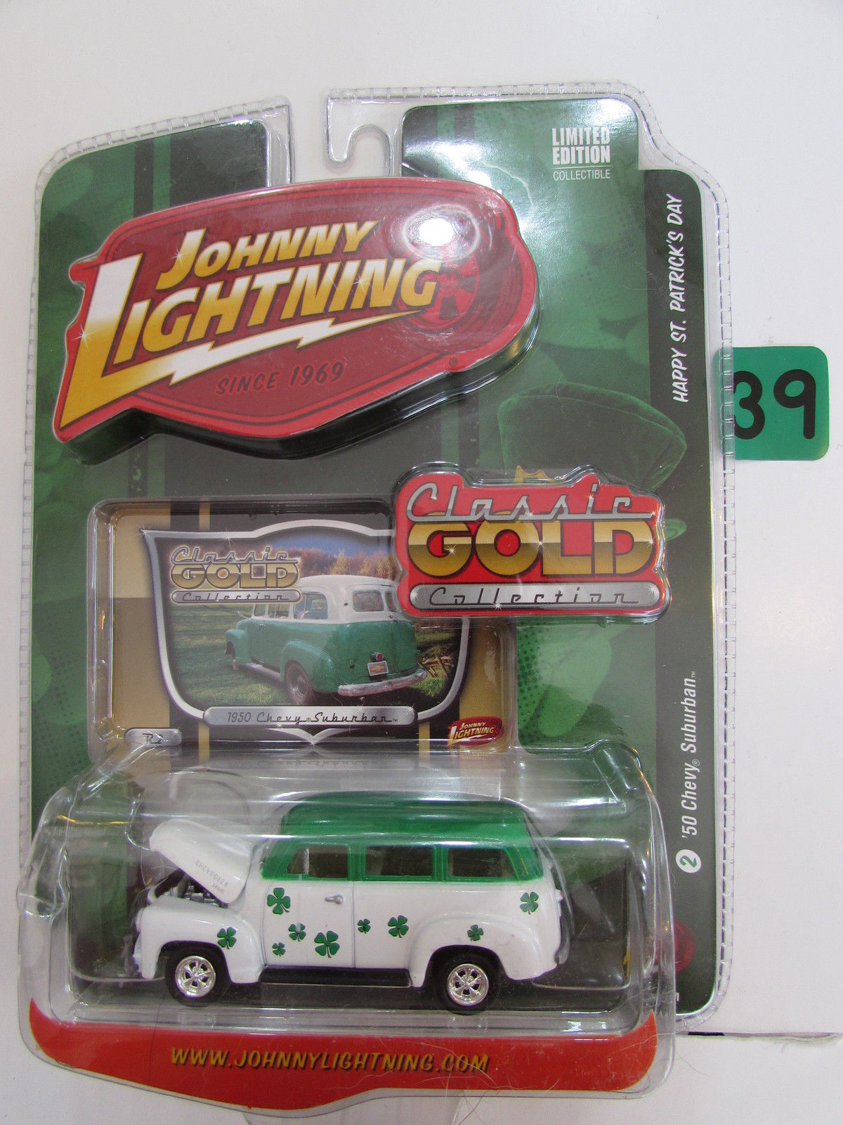 JOHNNY LIGHTNING 2008 CLASSIC GOLD COLLECTION '50 CHEVY SUBURBAN #2