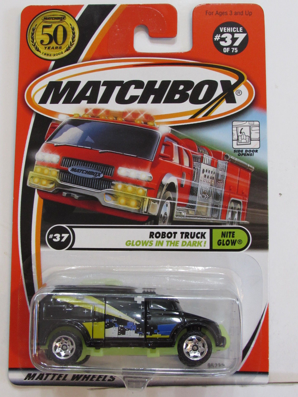 MATCHBOX 2001 #37 OF 75 ROBOT TRUCK - NITE GLOW