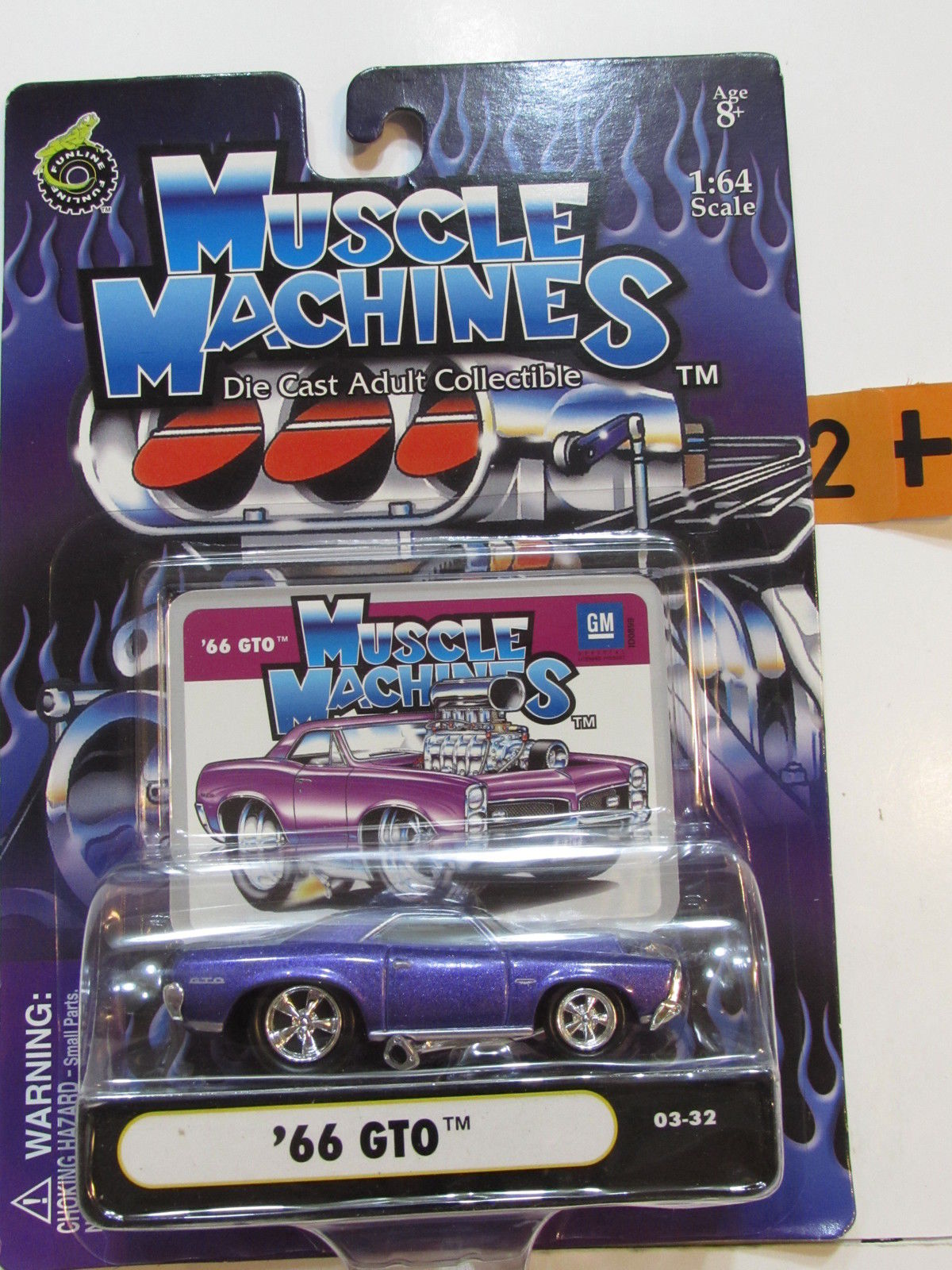 2003 MUSCLE MACHINES '66 GTO PURPLE SCALE 1:64