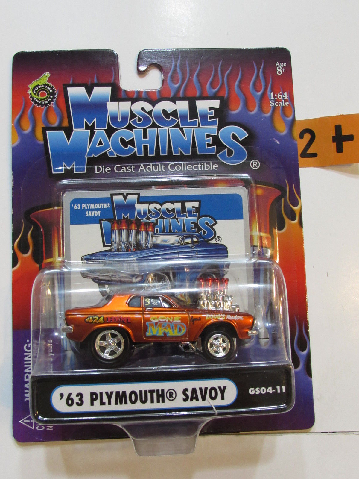 2004 MUSCLE MACHINES '63 PLYMOUTH SAVOY 1:64 SCALE