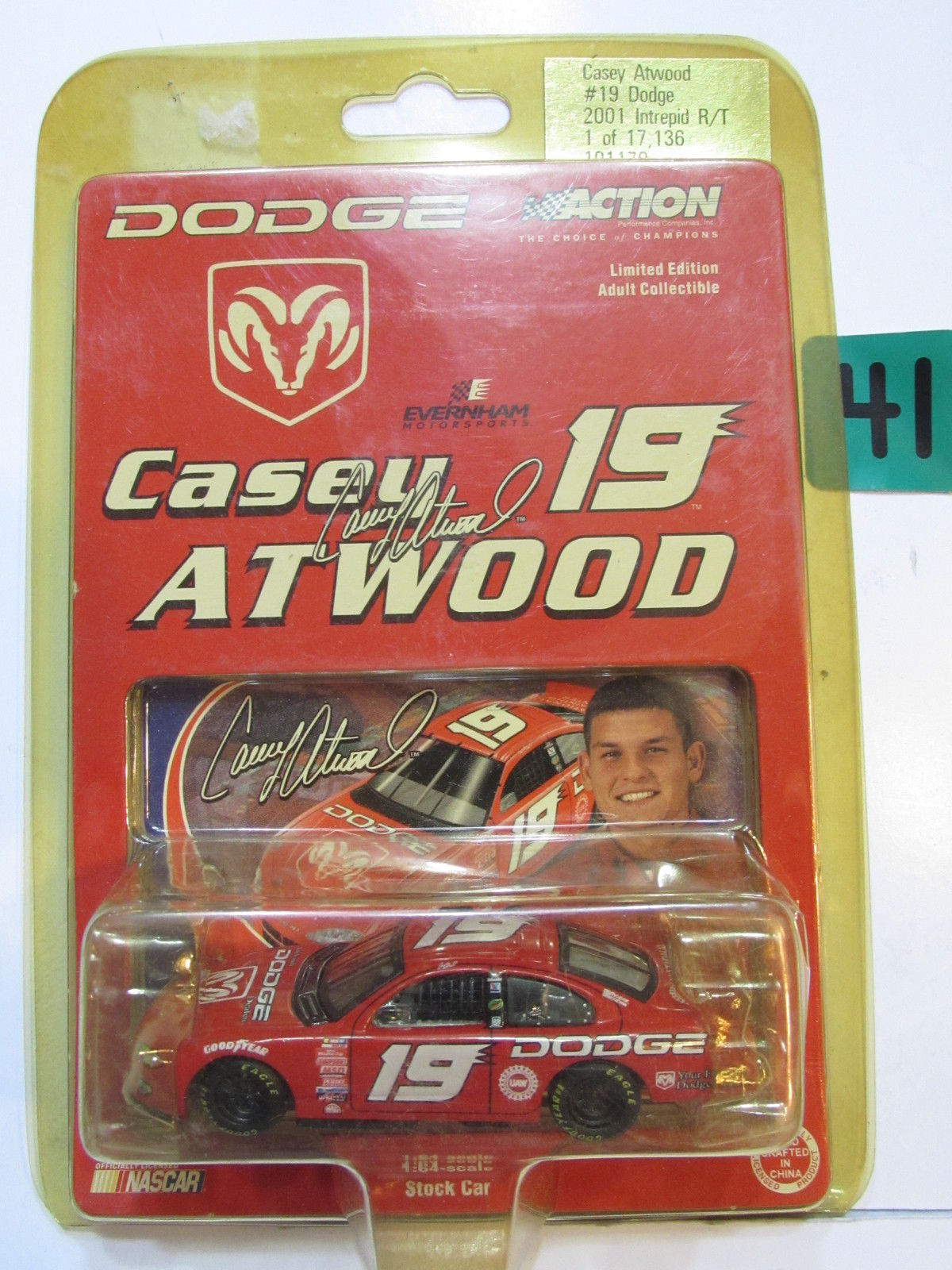 2001 ACTION NASCAR CASEY ATWOOD #19 DODGE