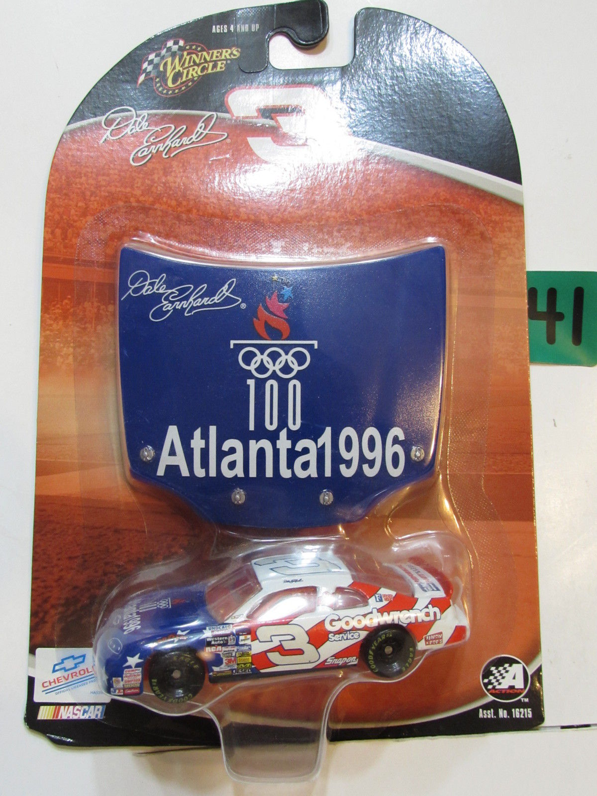 NASCAR WINNER'S CIRCLE DALE EARNHARDT #03 ATLANTA 1996 E+