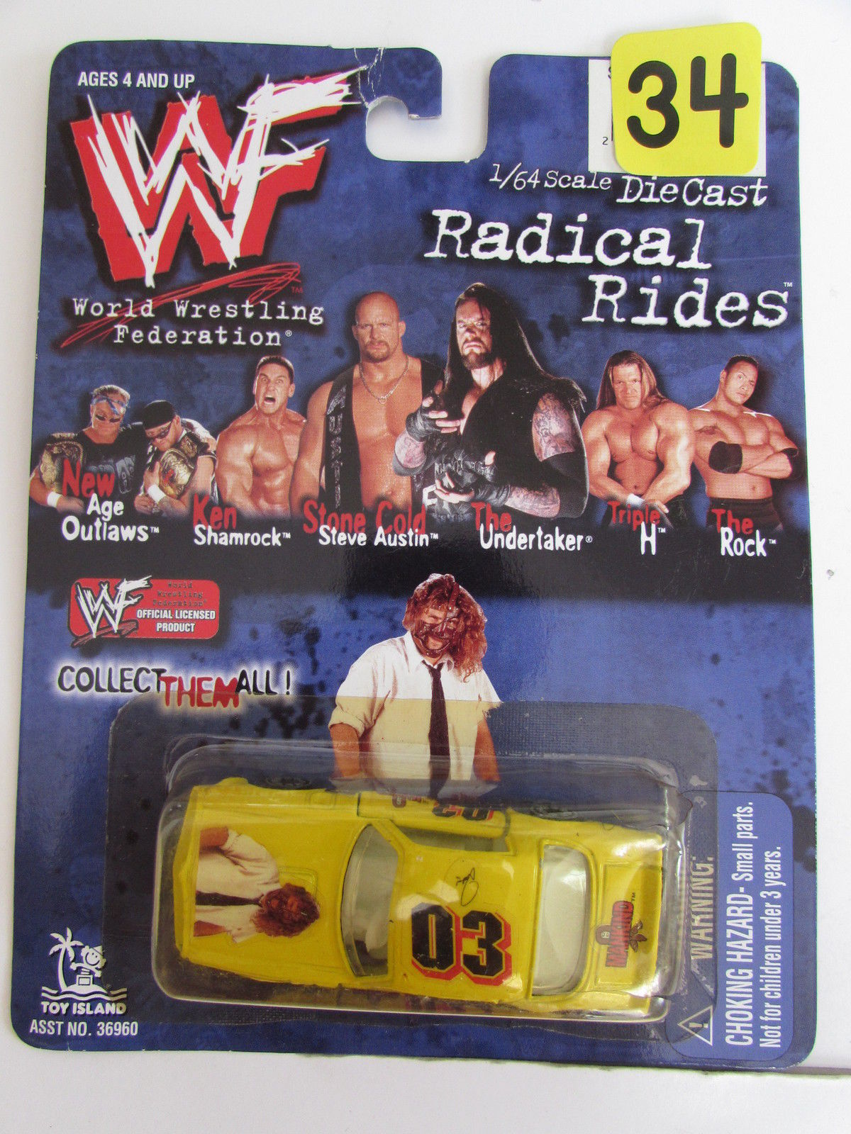 1999 TOY ISLAND WWF RADICAL RIDES #03 MANKIND SCALE 1:64