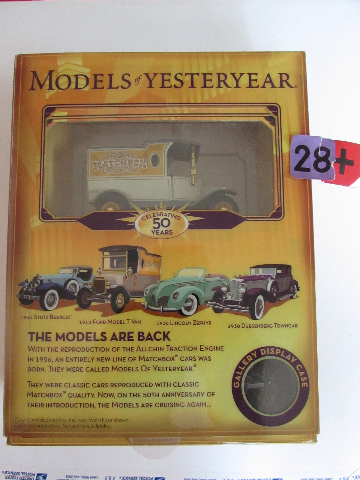 MATCHBOX MODELS OF YESTERDAY - CELEBRATING 50 YEARS - 1912 FORD MODEL T VAN