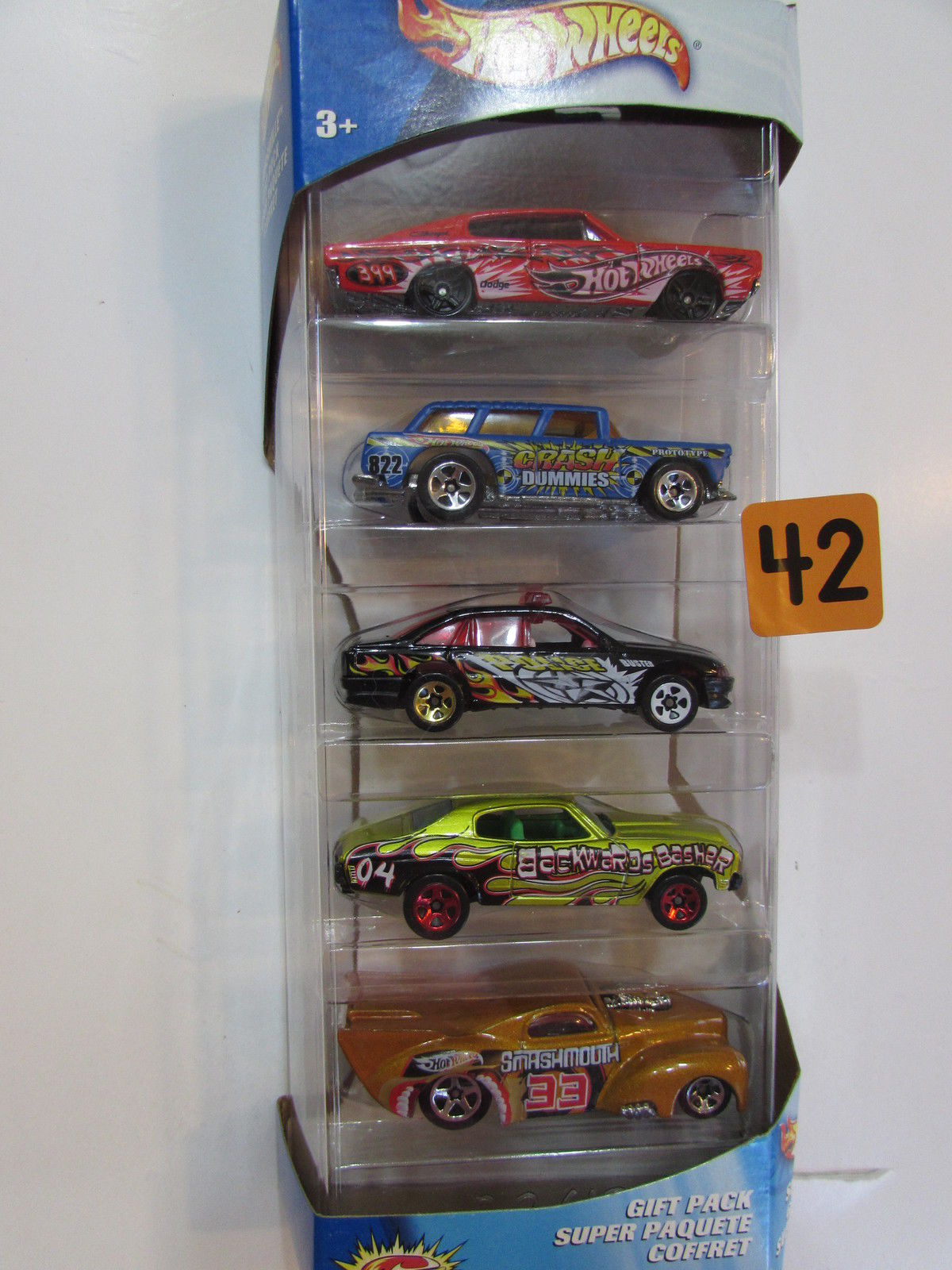 2002 HOT WHEELS SMASHVILLE - CHARGER - NOMAD - CHEVELLE - WILLYS 5 CAR PACK