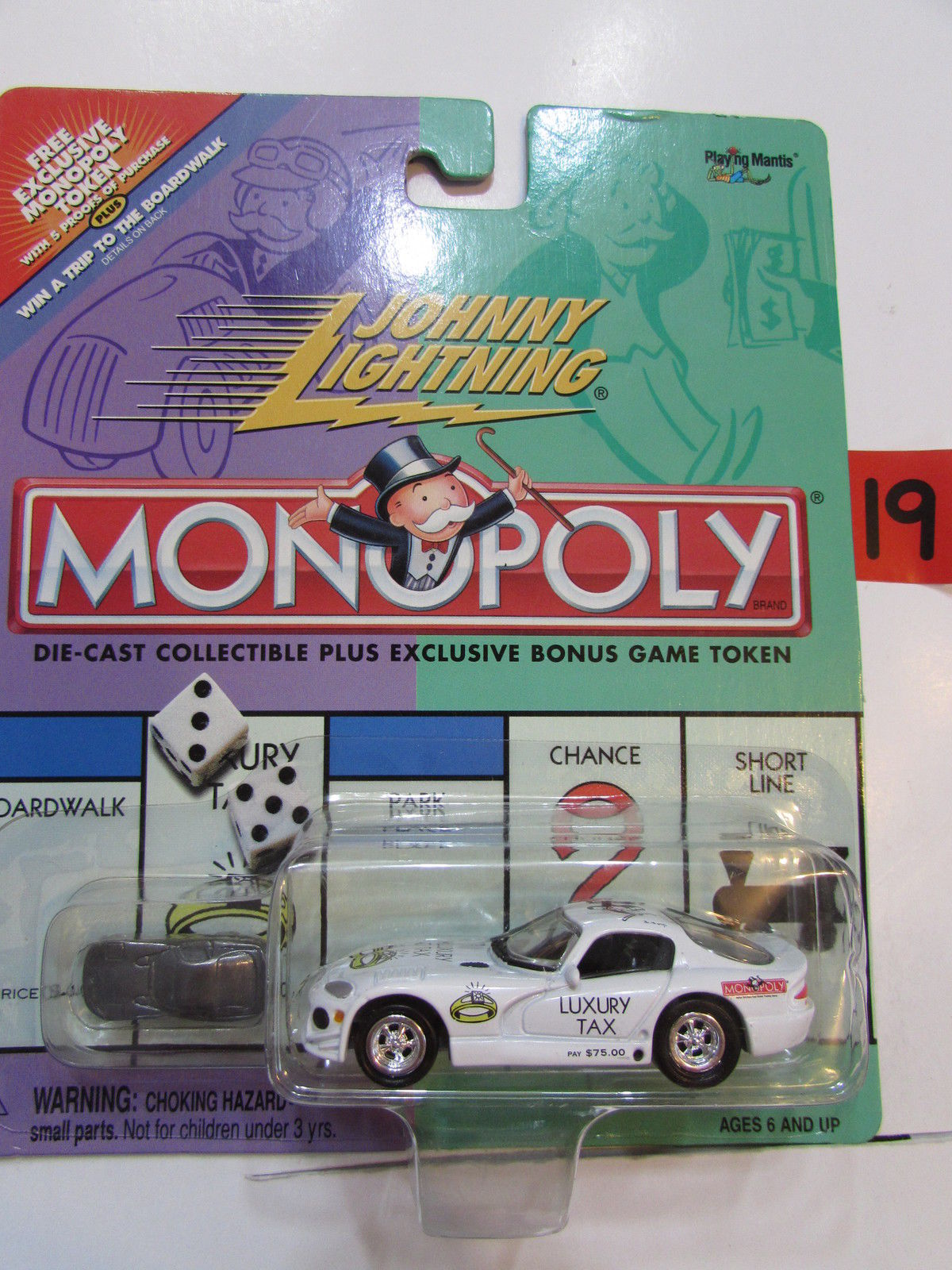 JOHNNY LIGHTNING MONOPOLY LUXUARY TAX - DODGE VIPER E+