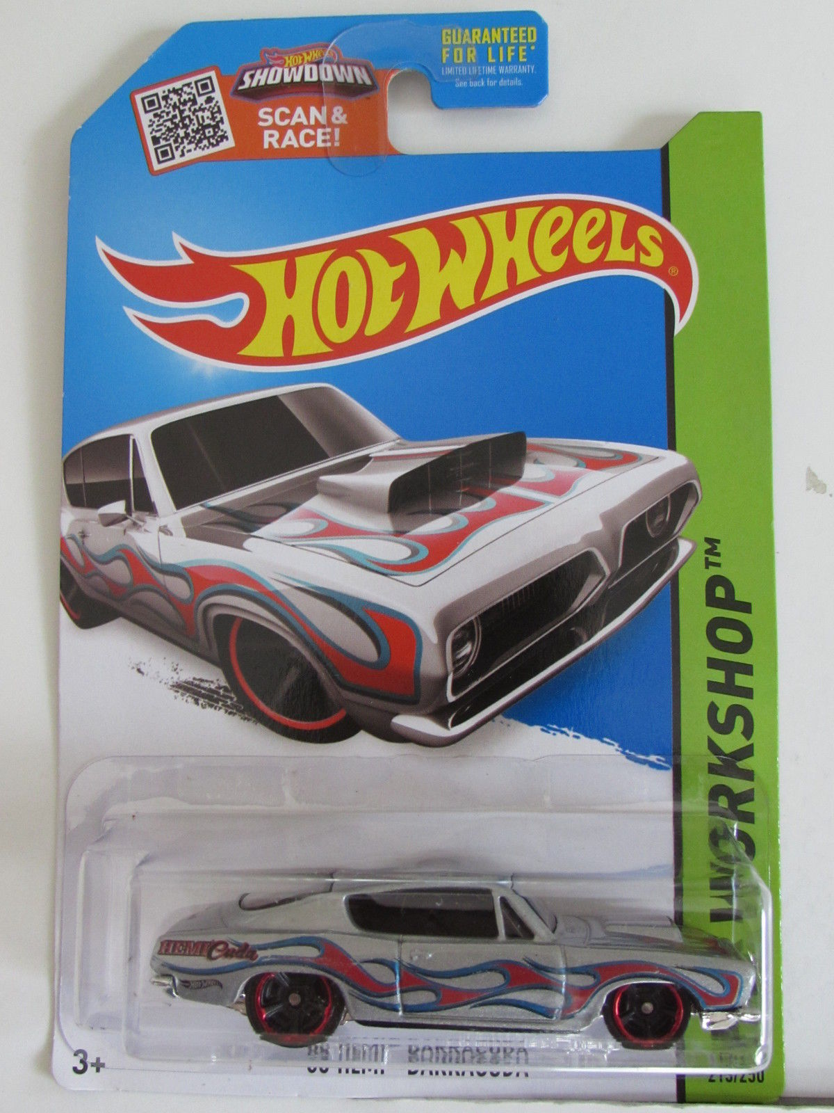 HOT WHEELS 2015 HW WORKSHOP - HEAT FLEET - '68 HEMI BARRACUDA