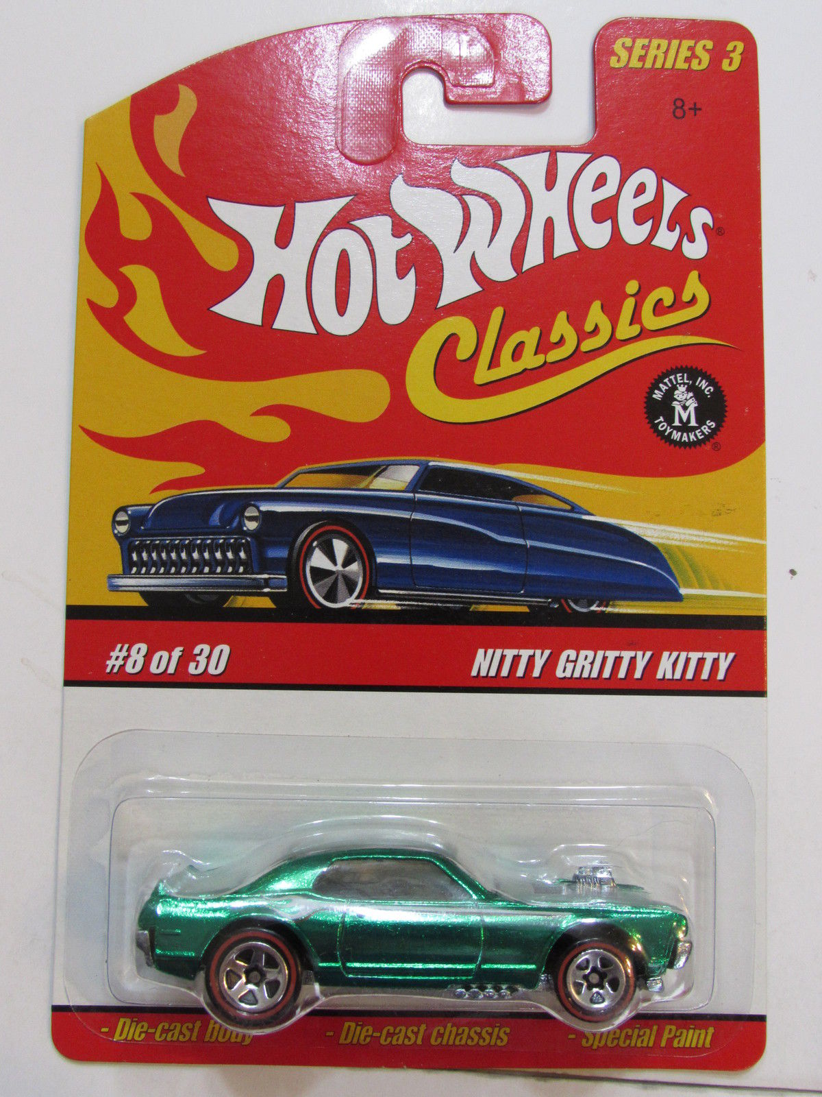 HOT WHEELS CLASSICS SERIES 3 #8/30 NITTY GRITTY KITTY GREEN