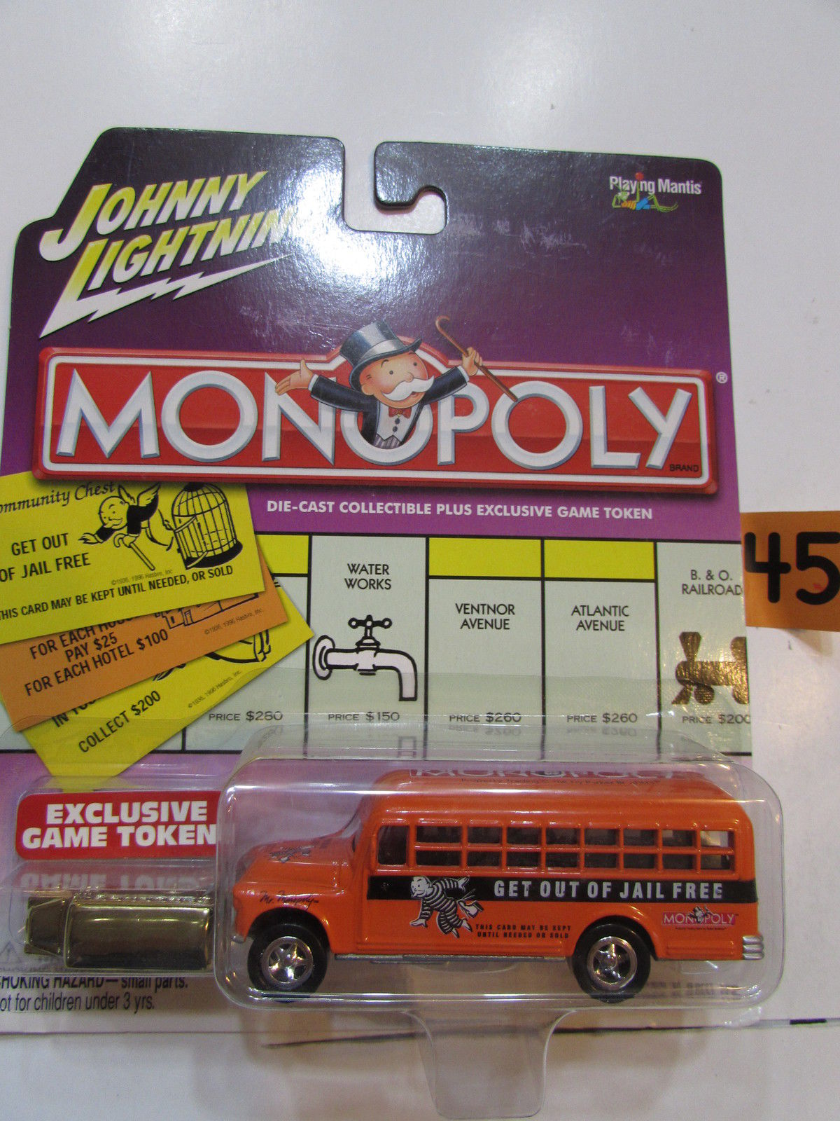 JOHNNY LIGHTNING MONOPOLY GET OUT OF JAIL FREE - '56 CHEVY BUS