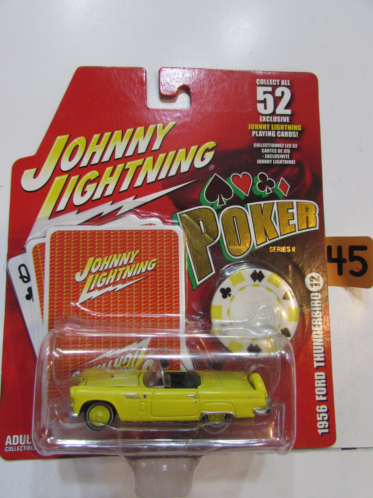 JOHNNY LIGHTNING POKER SERIES II - 1956 FORD THUNDERBIRD #12