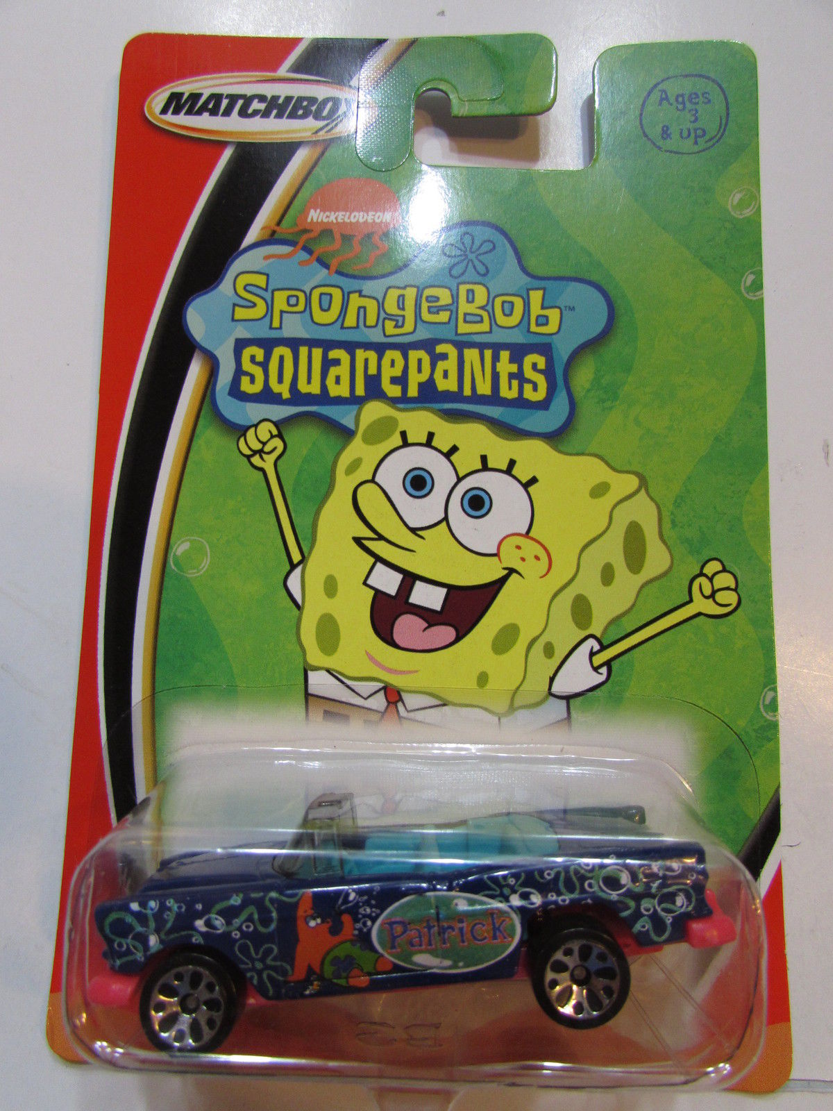 MATCHBOX SPONGEBOB SQUAREPANTS PATRICK CHEVY BAL AIR BLUE