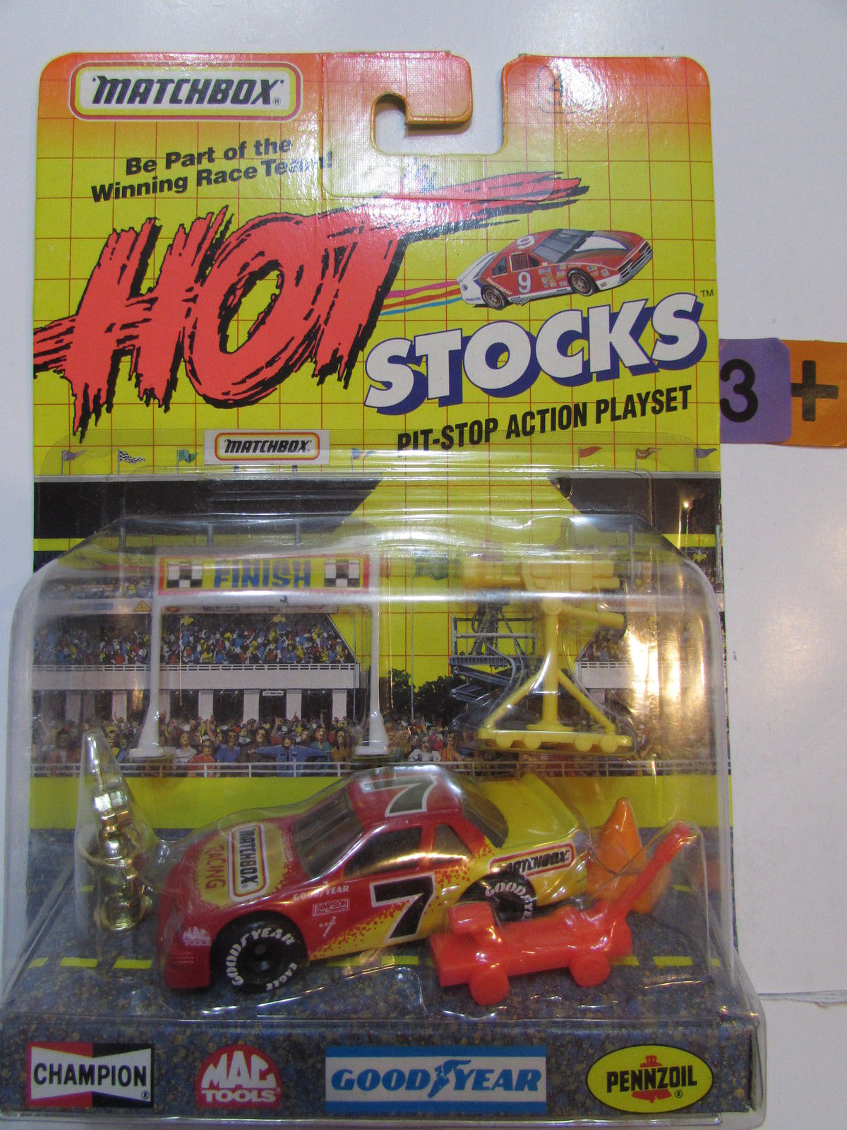 MATCHBOX 1991 HOT STOCKS PIT - STOP ACTION PLAYLIST RACING #11