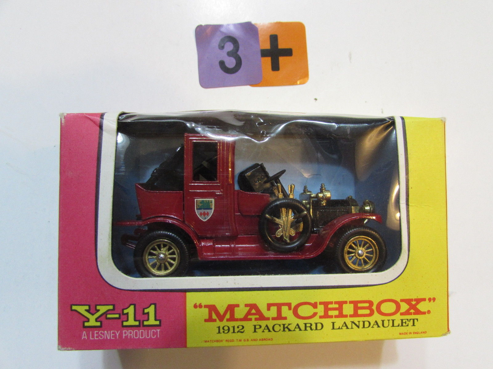 MATCHBOX MODELS OF YESTERYEAR Y- 11 PACKARD LANDAULET 1912 - LESNEY