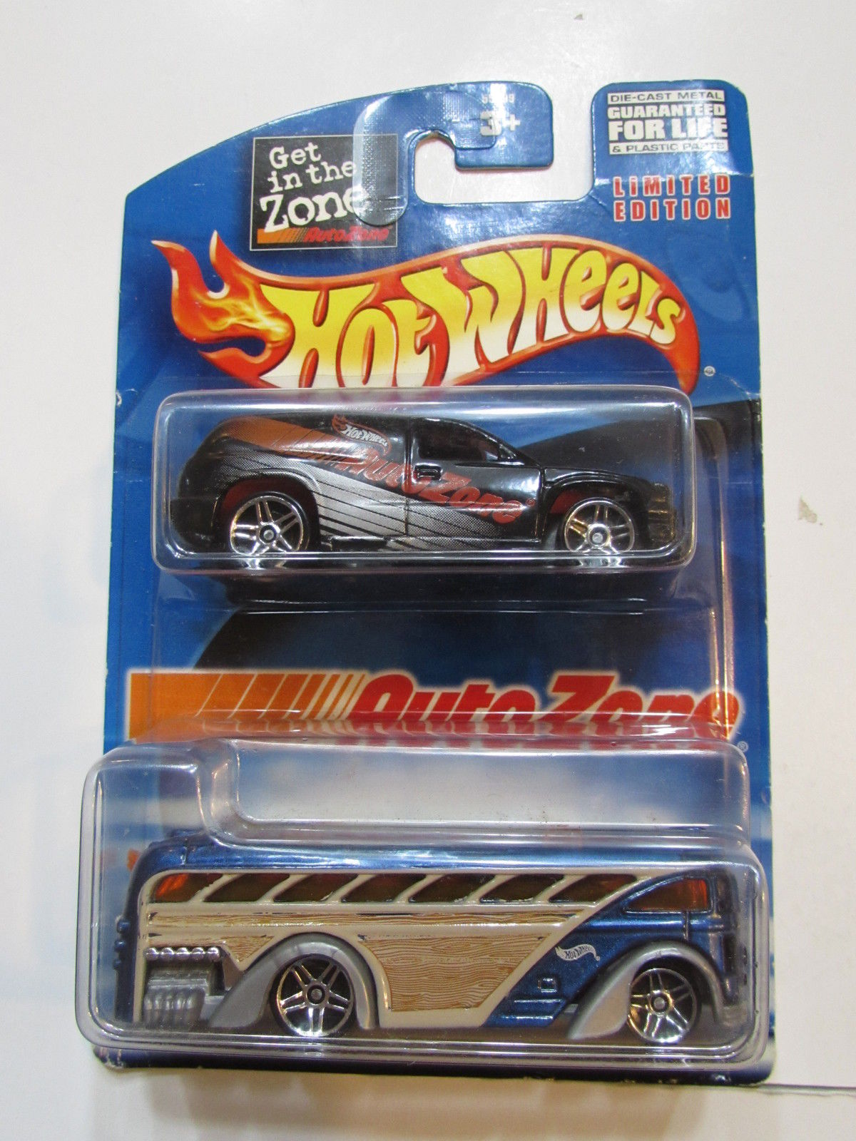 HOT WHEELS 2 CAR PACK AUTOZONE - SURFIN' SCHOOL BUS