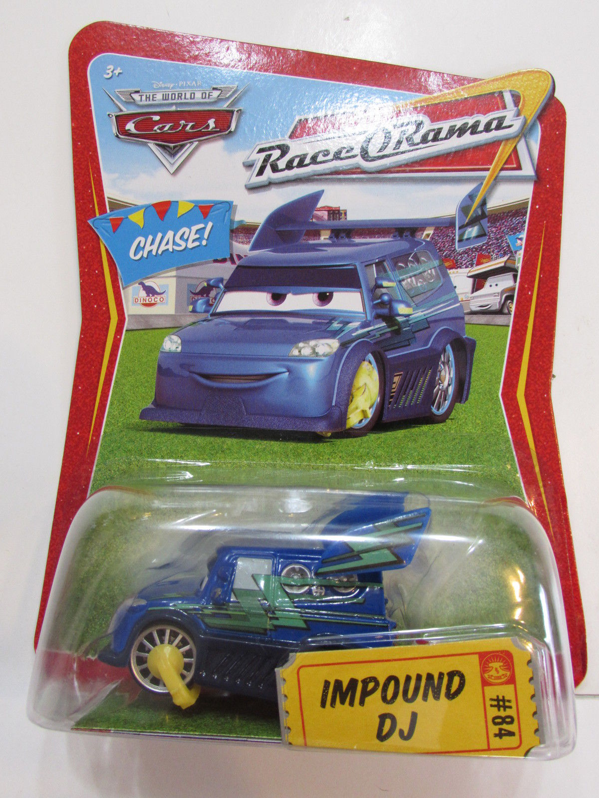 DISNEY PIXAR THE WORLD OF CARS CHASE RACE O RAMA - IMPOUND DJ #84