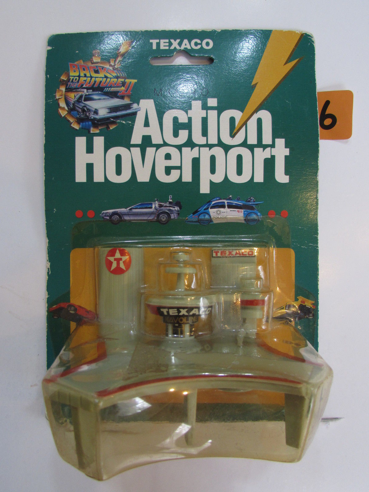 1989 RACING CHAMPIONS TEXACO MICRO ACTION HOVERPORT - BACK TO THE FUTURE PART II