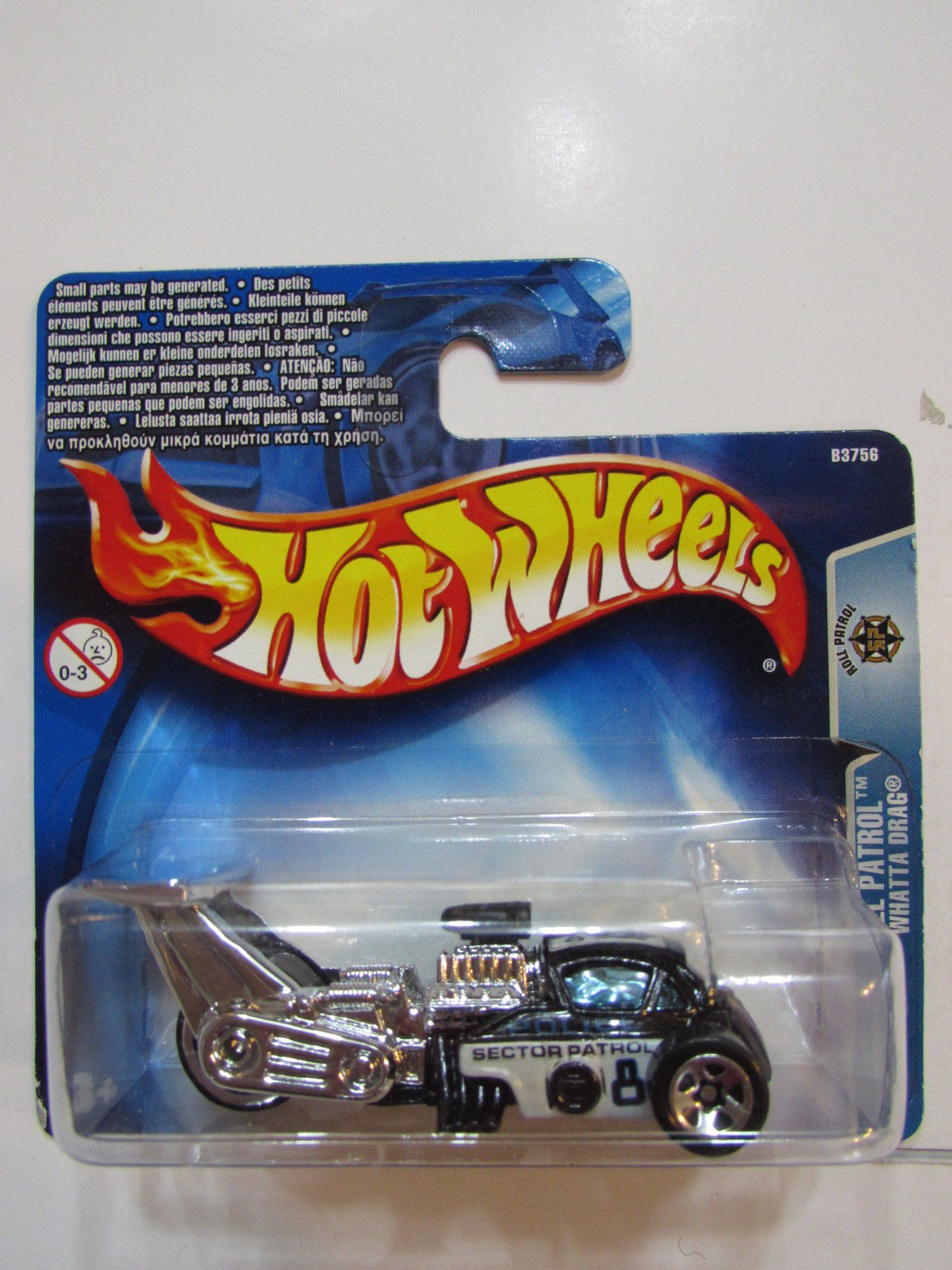 HOT WHEELS 2004 ROLL PATROL WHATTA DRAG #163 SHORT CARD