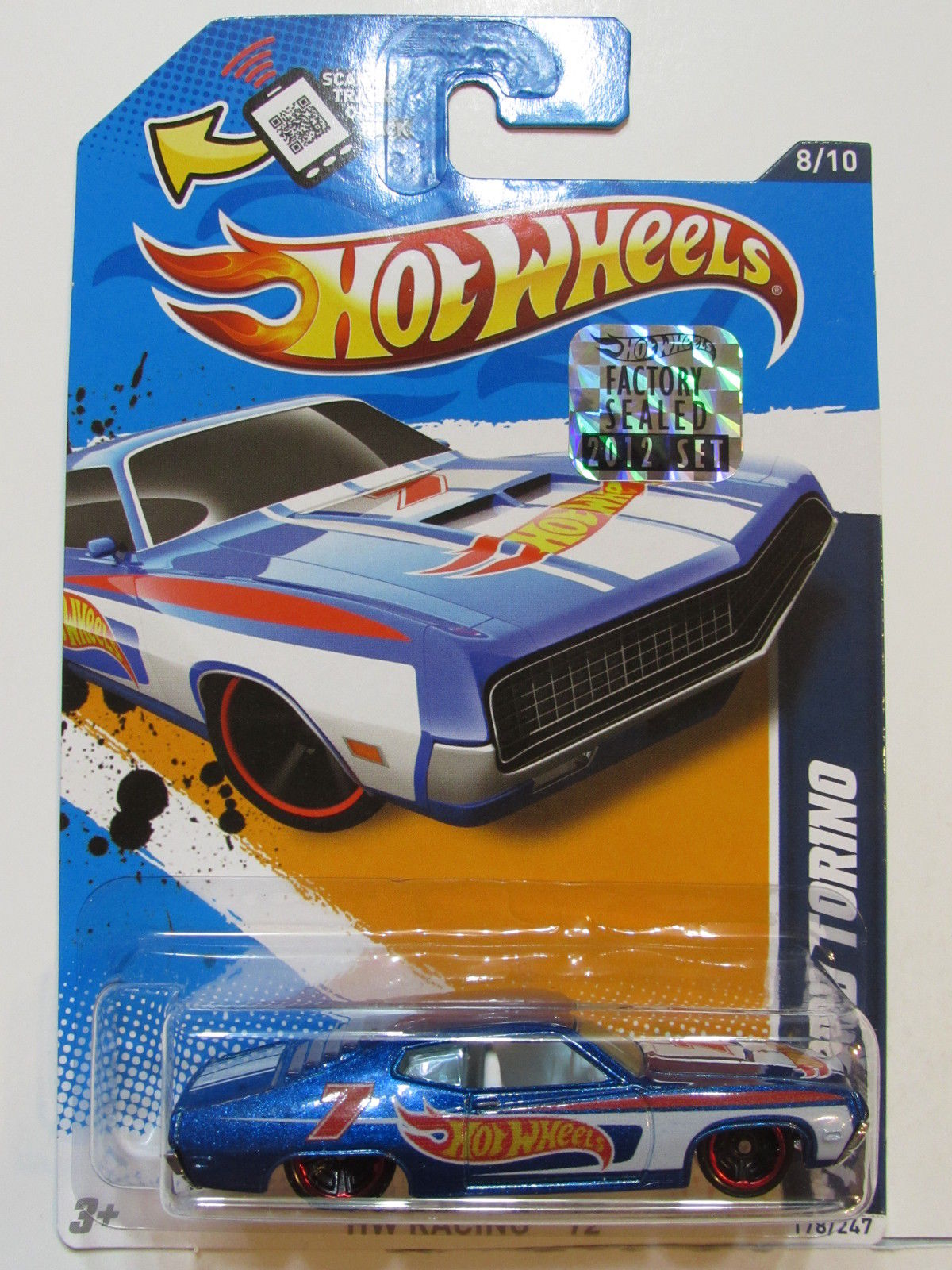 HOT WHEELS 2012 HW RACING 70 FORD TORINO BLUE FACTORY SEALED
