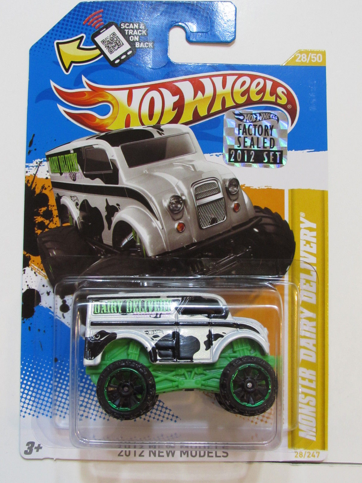 HOT WHEELS 2012 NEW MODELS - MONSTER DAIRY DELIVERY FACTORY SEALED