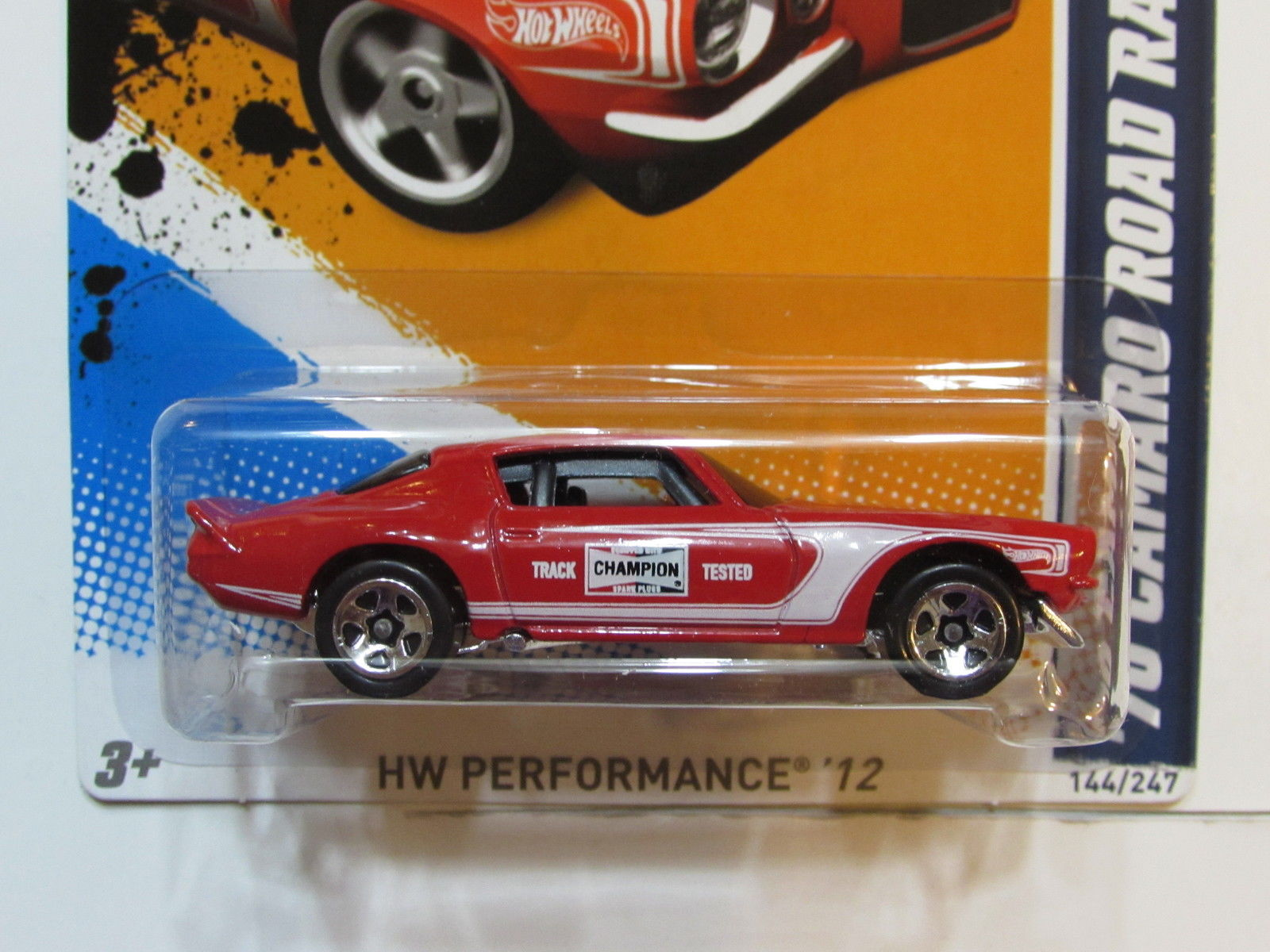 HOT WHEELS 2012 HW PERFORMANCE 70 CAMARO ROAD RACE FACTORY SEALED
