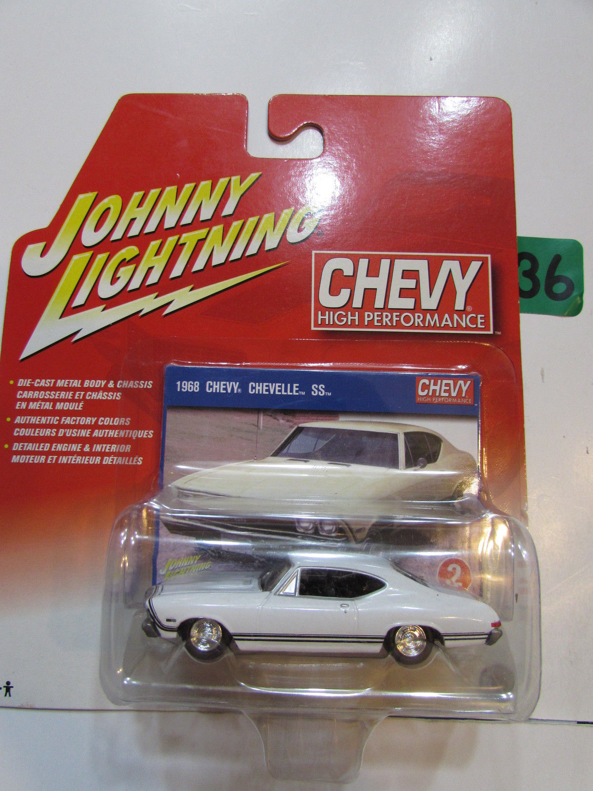 JOHNNY LIGHTNING CHEVY HIGH PERFORMANCE 1968 CHEVY CHEVELLE SS # 02