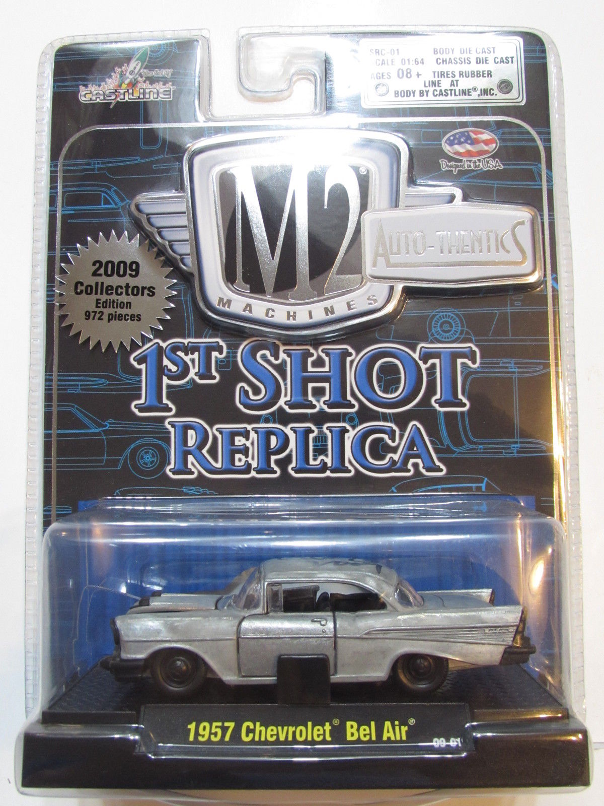 M2 MACHINES 1ST SHOT REPLICA 1967 CHEVROLET BEL AIR RAW - SIGNED - 972 MADE
