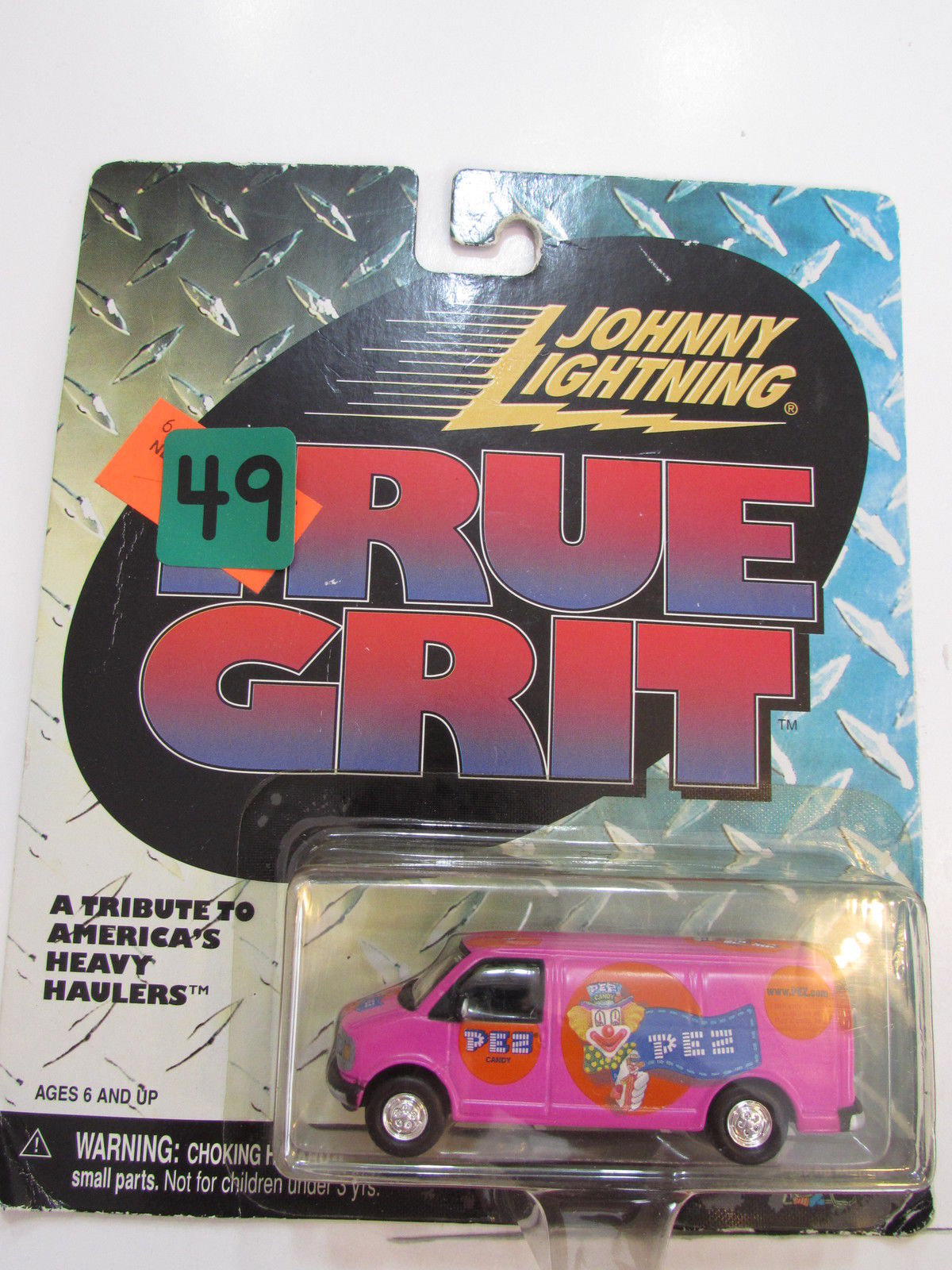 JOHNNY LIGHTNING TRUE GRIT - PEZ PINK TRUCK