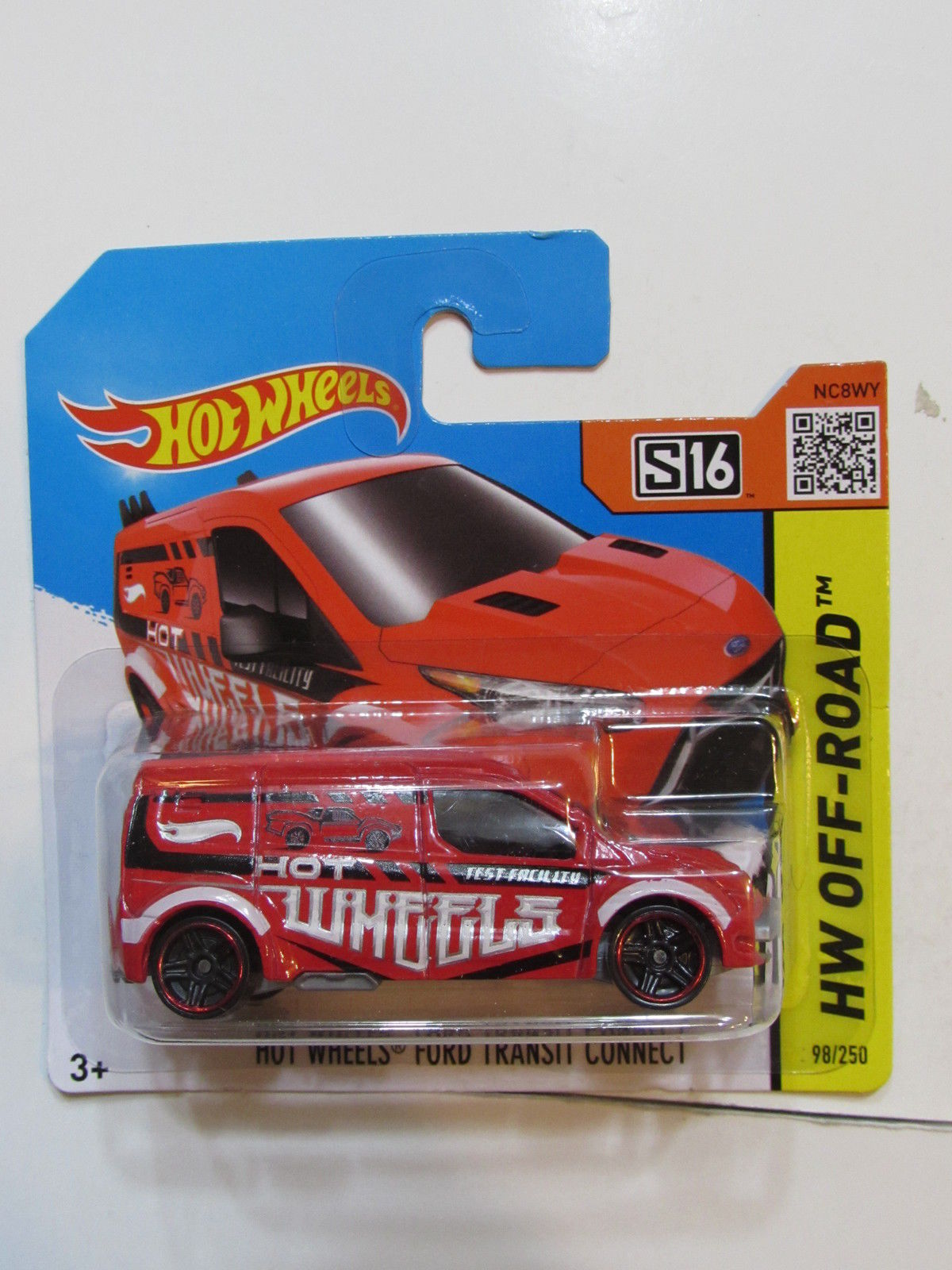 HOT WHEELS 2015 HW OFF ROAD - HW FORD TRANSIT CONNECT SHORT CARD