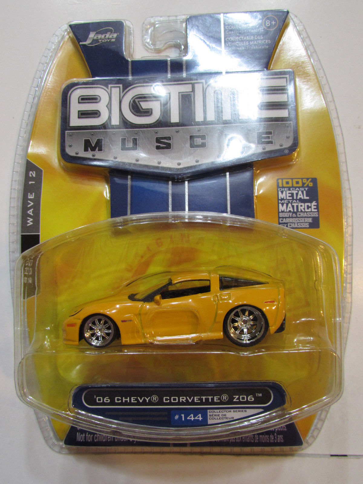 JADA BIGTIME MUSCLE 2007 WAVE 12 - '06 CHEVY CORVETTE Z06 #144 YELLOW