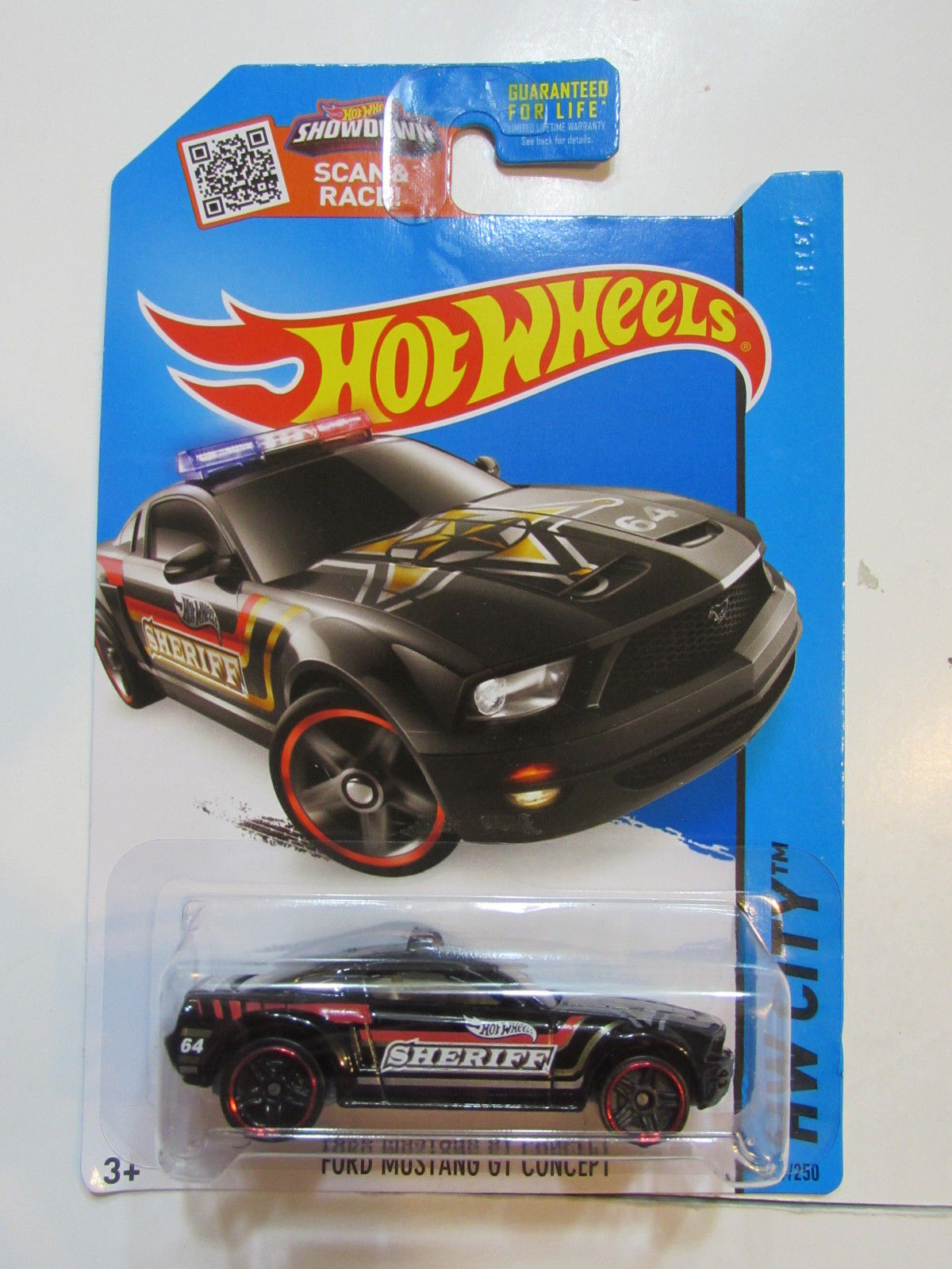 HOT WHEELS 2015 HW CITY - HW RESCUE FORD MUSTANG GT CONCEPT BLACK