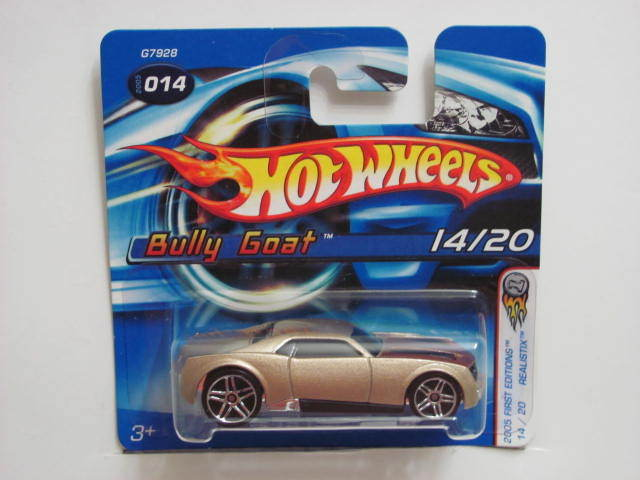 HOT WHEELS 2005 FIRST EDITIONS BULLY GOAT #014 W/ 5 SP WHEELS
