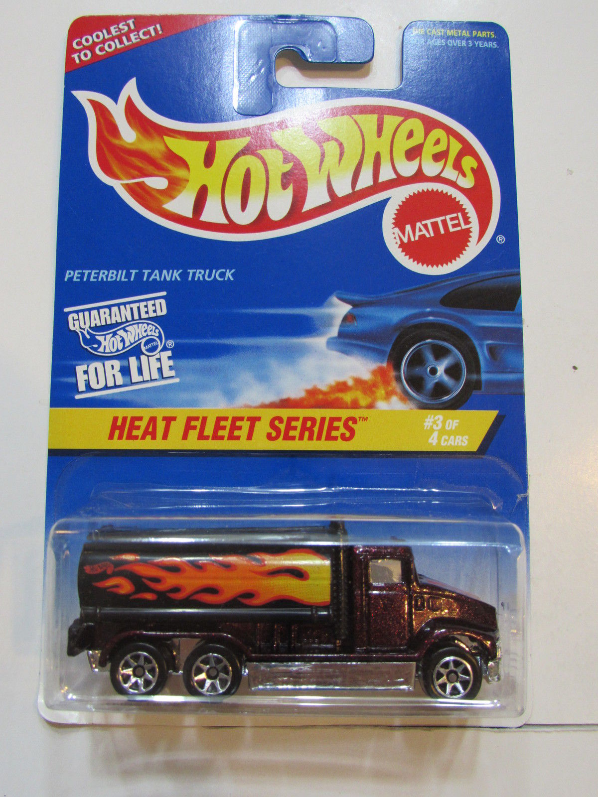 HOT WHEELS 1996 HEAT FLEET SERIES PETERBILT TANK TRUCK #539