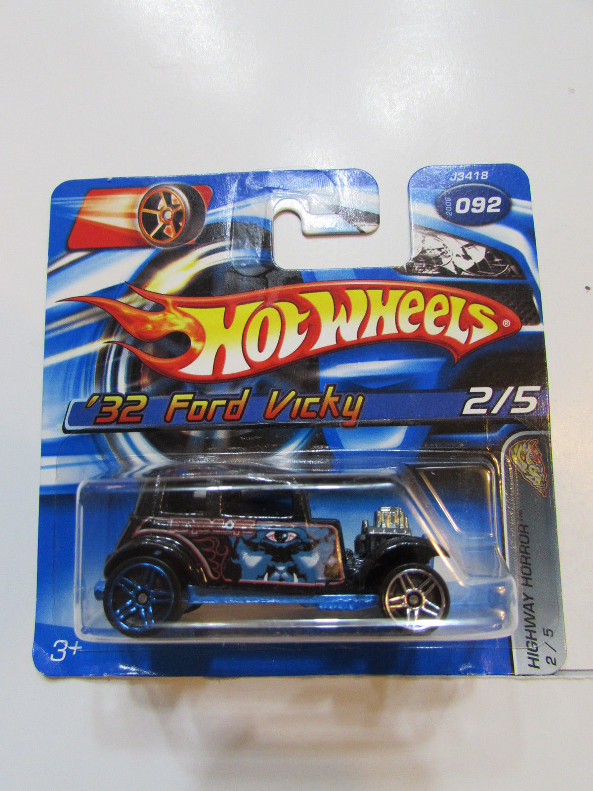 HOT WHEELS 2006 HIGHWAY HORROR '32 FORD VICKY SHORT CARD