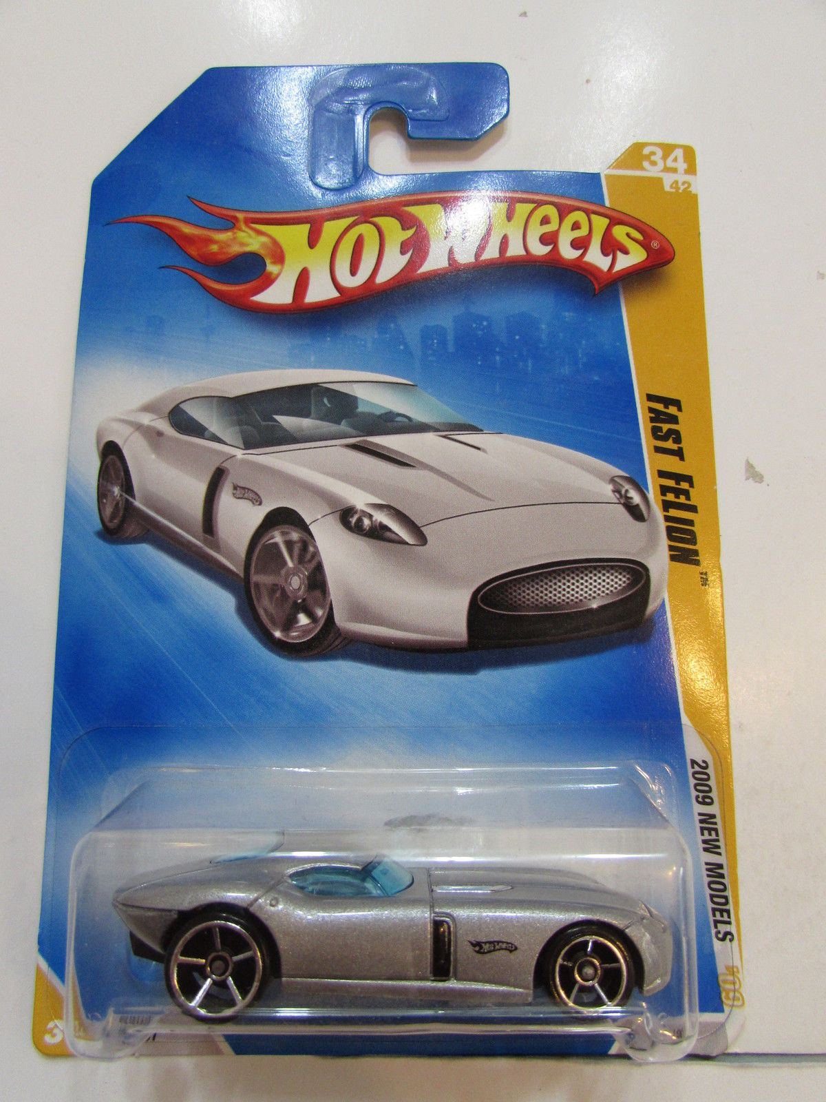 HOT WHEELS 2009 NEW MODELS FAST FELION SILVER #34/42