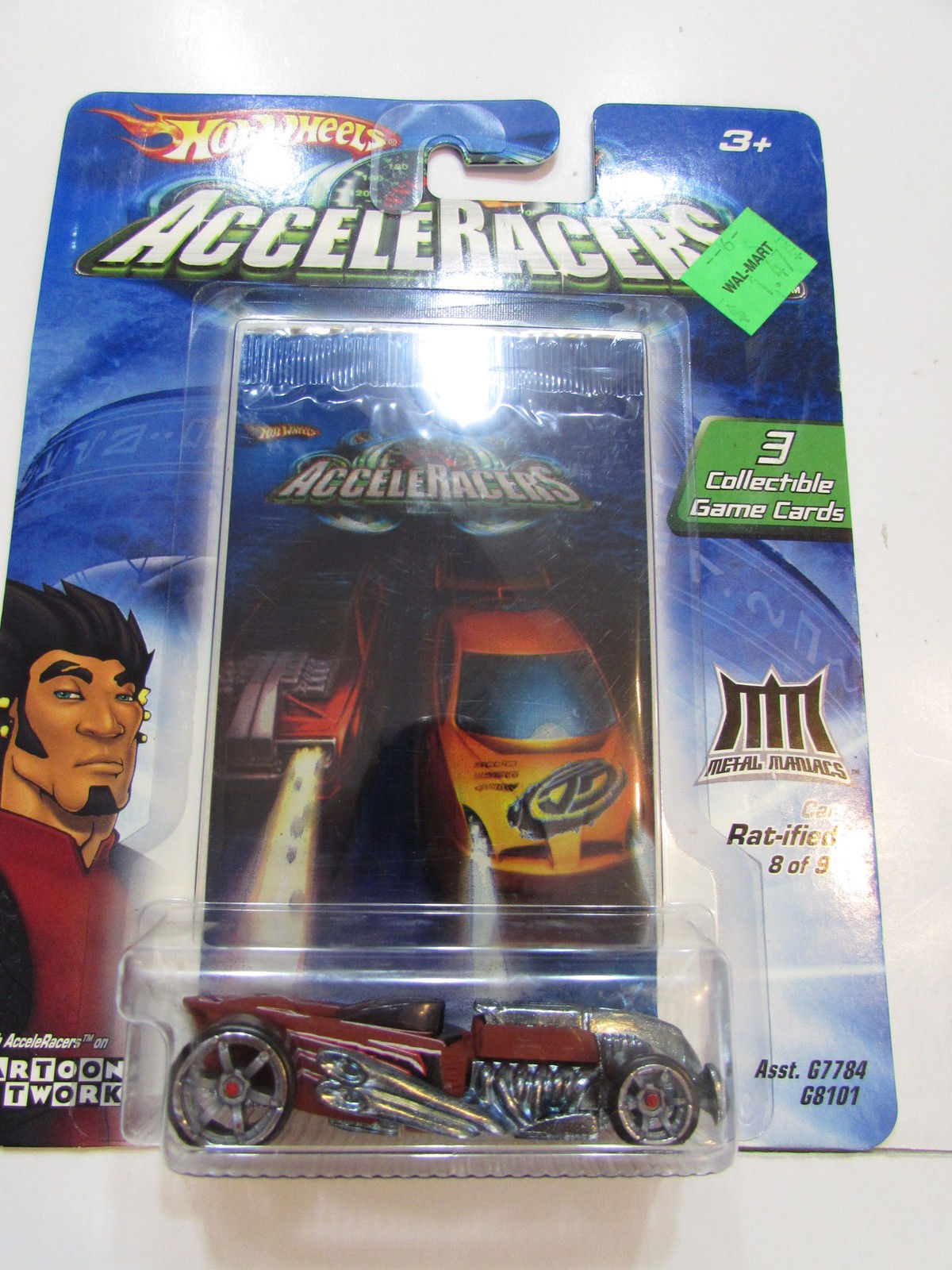 2004 HOT WHEELS ACCELERACERS RAT - IFIED #8/9 - 3 COLLECTIBLE GAME CARDS
