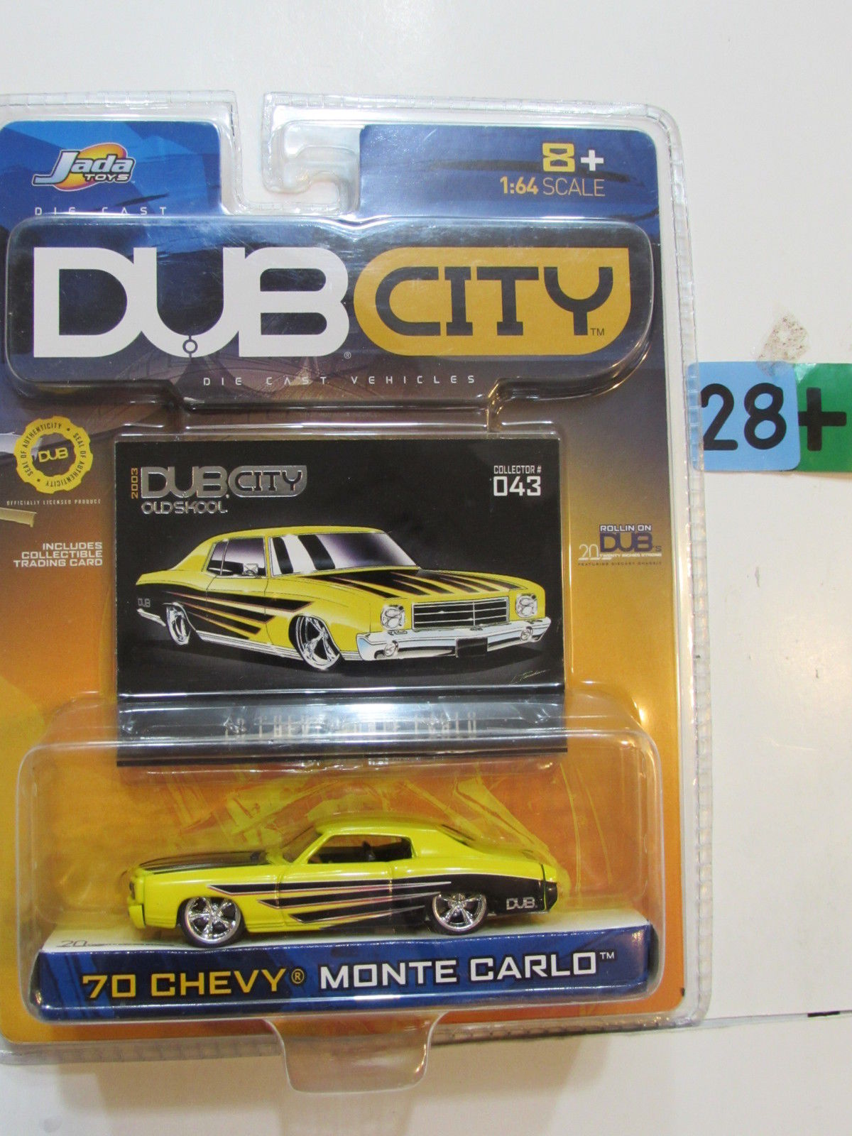 JADA TOYS DUB CITY - '70 CHEVY MONTE CARLO CLTR 043 SCALE 1:64
