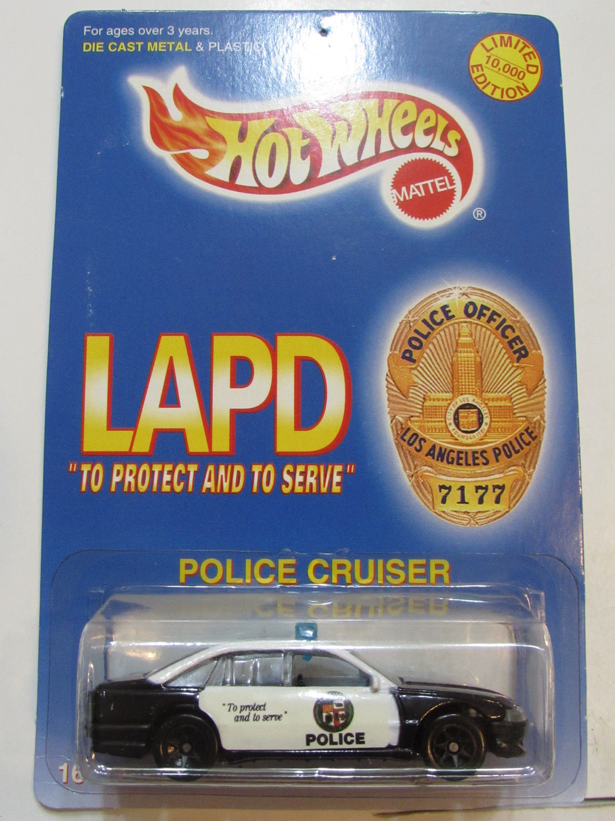 HOT WHEELS 1996 LAPD - POLICE CRUISER