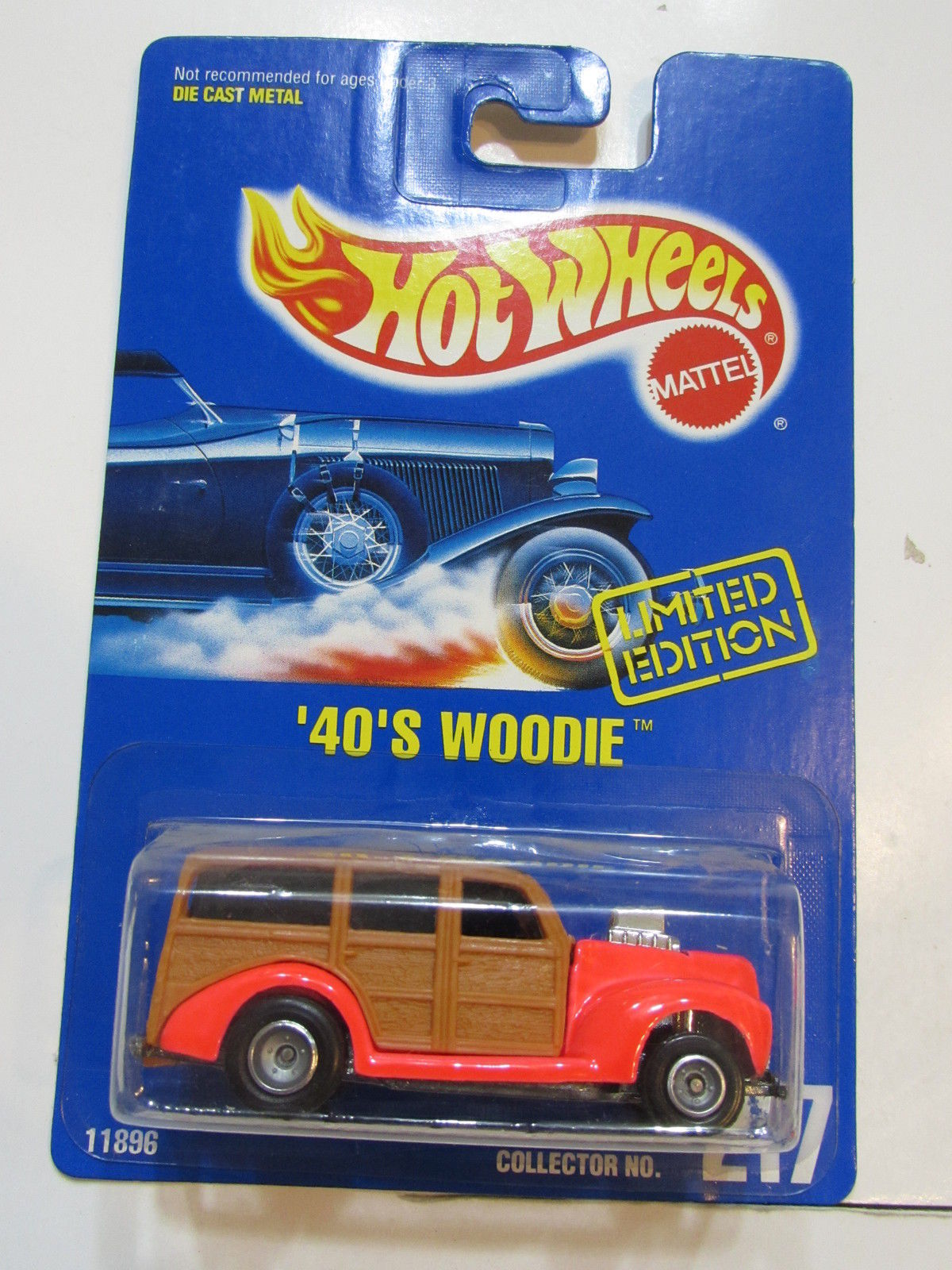 HOT WHEELS 1991 LIMITED EDITION '40'S WOODIE # 217
