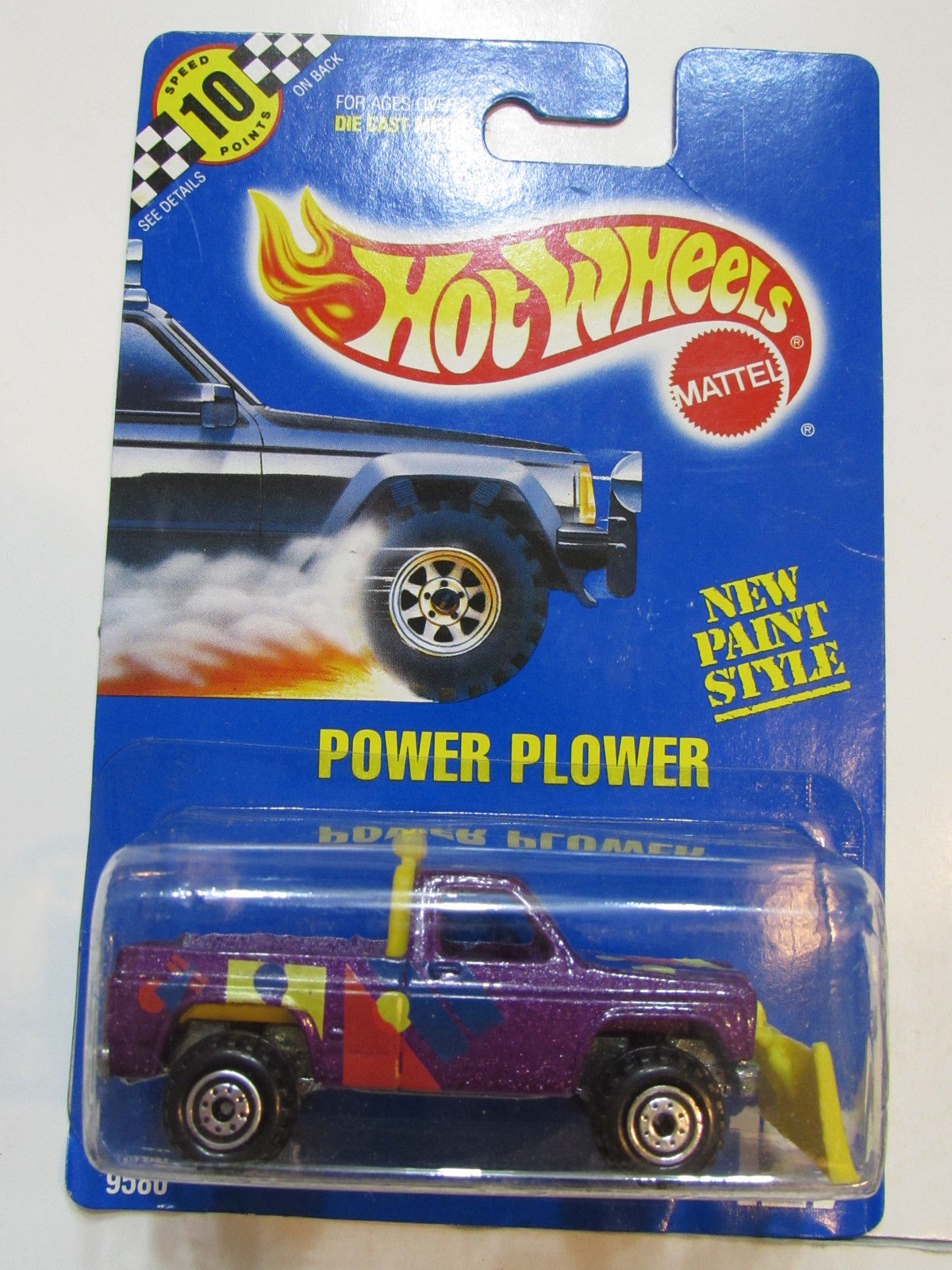HOT WHEELS 1990 BLUE CARD NEW PAINT STYLE - POWER PLOWER #127