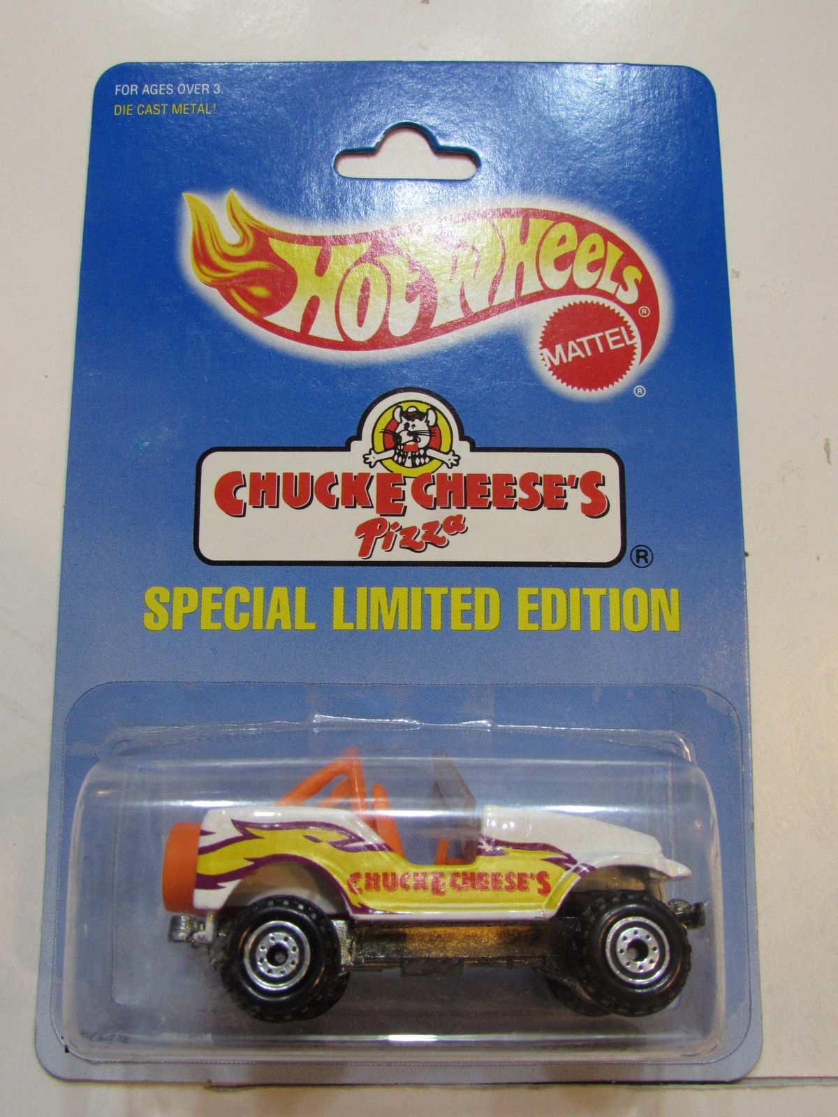 HOT WHEELS 1991 CHUCKE CHEESE'S SPECIAL LIMITED EDITION JEEP