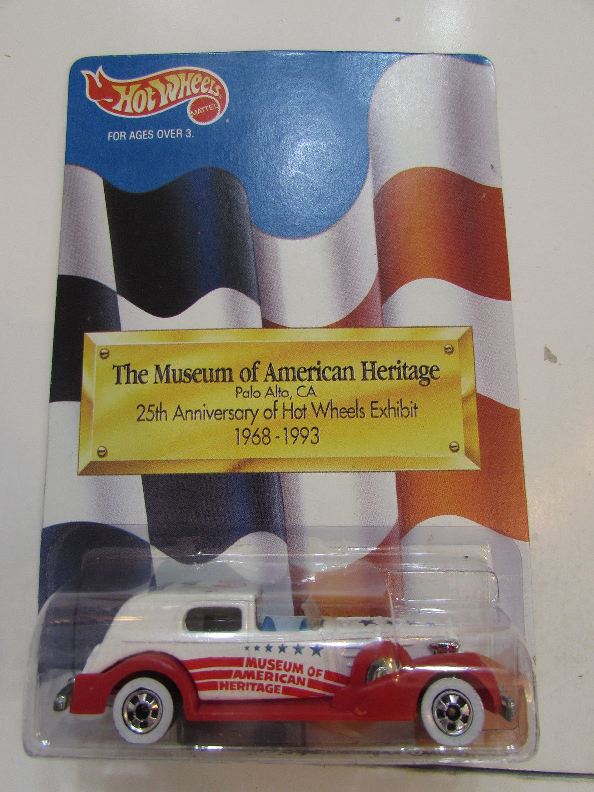 HOT WHEELS 1992 THE MUSEUM OF AMERICAN HERITAGE 25TH ANNIVERSARY OF HW EXHIBIT