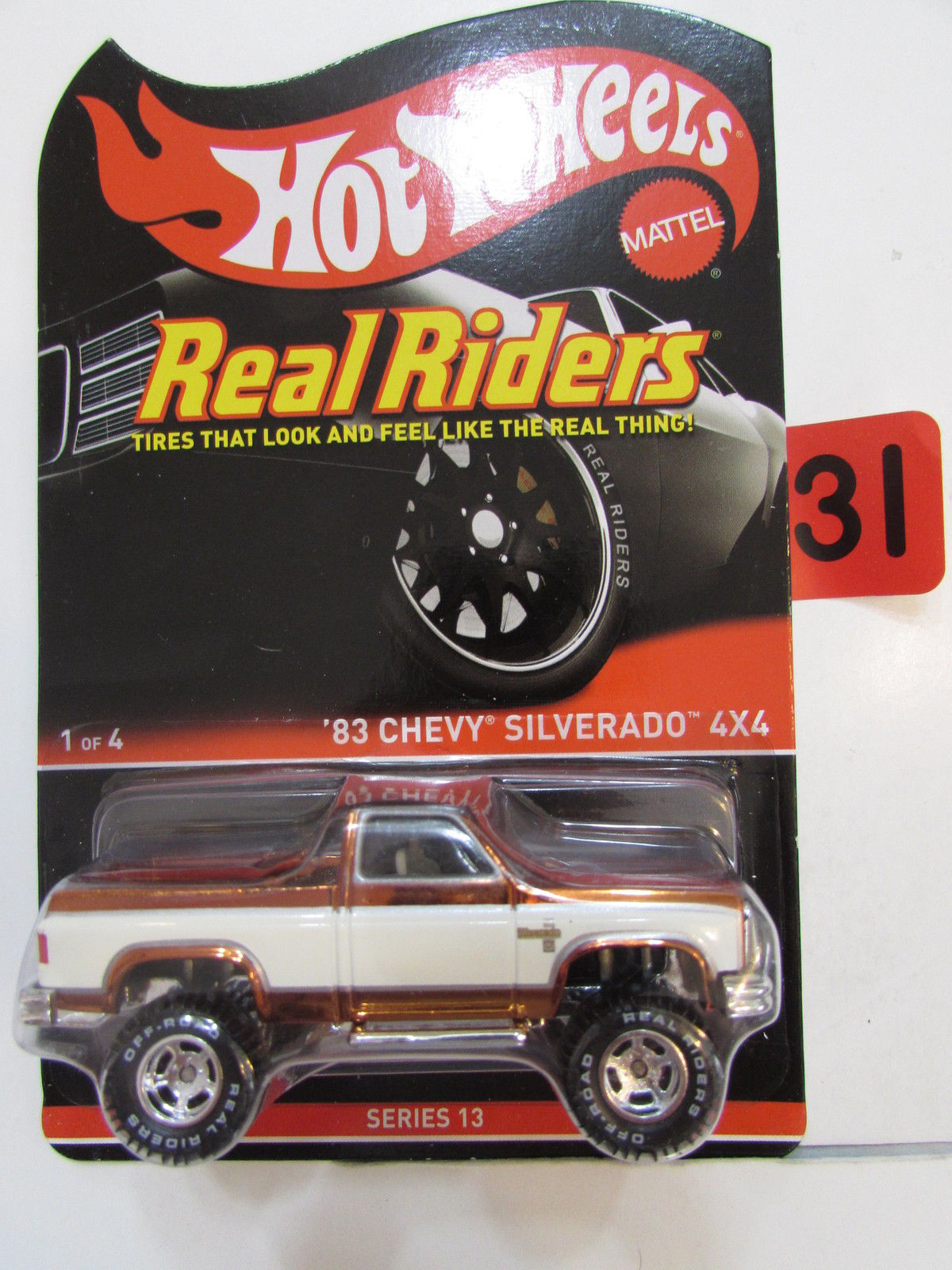 HOT WHEELS 2014 '83 CHEVY SILVERADO 4X4 REAL RIDERS E+