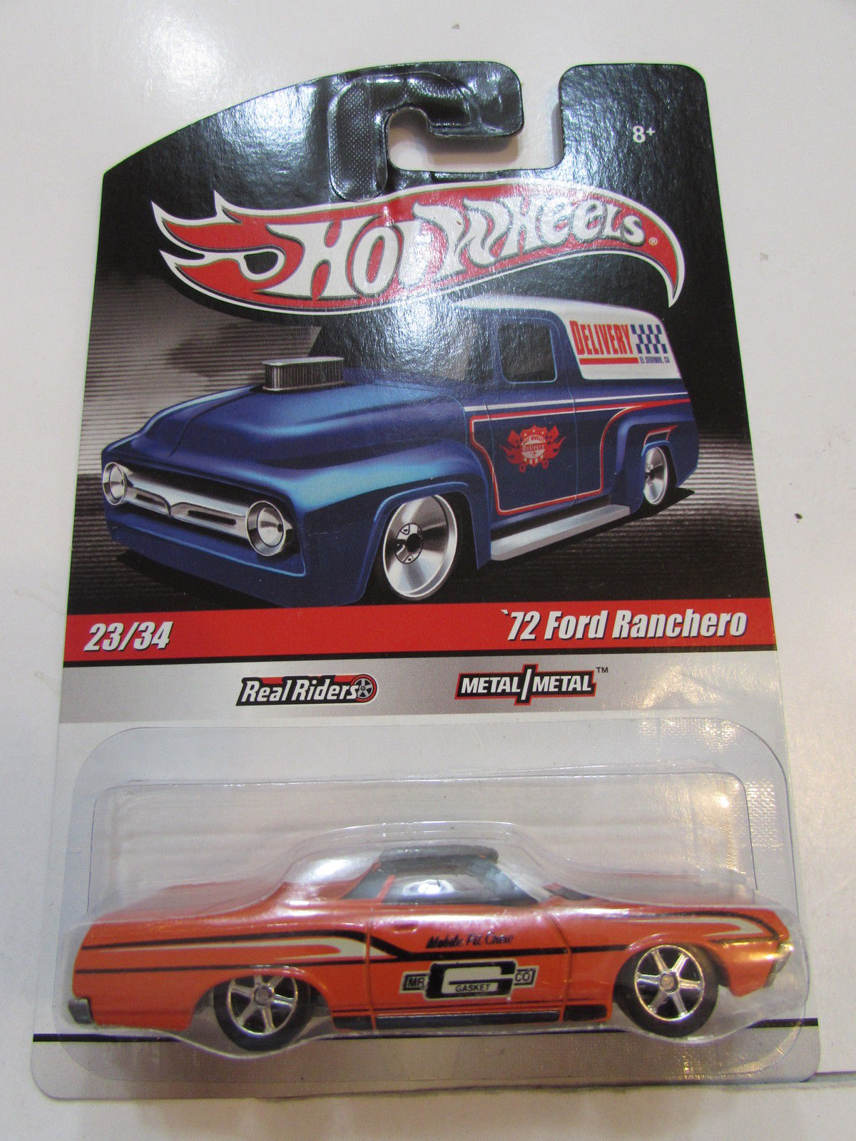 HOT WHEELS DELIVERY #23/34 '72 FORD RANCHERO ORANGE
