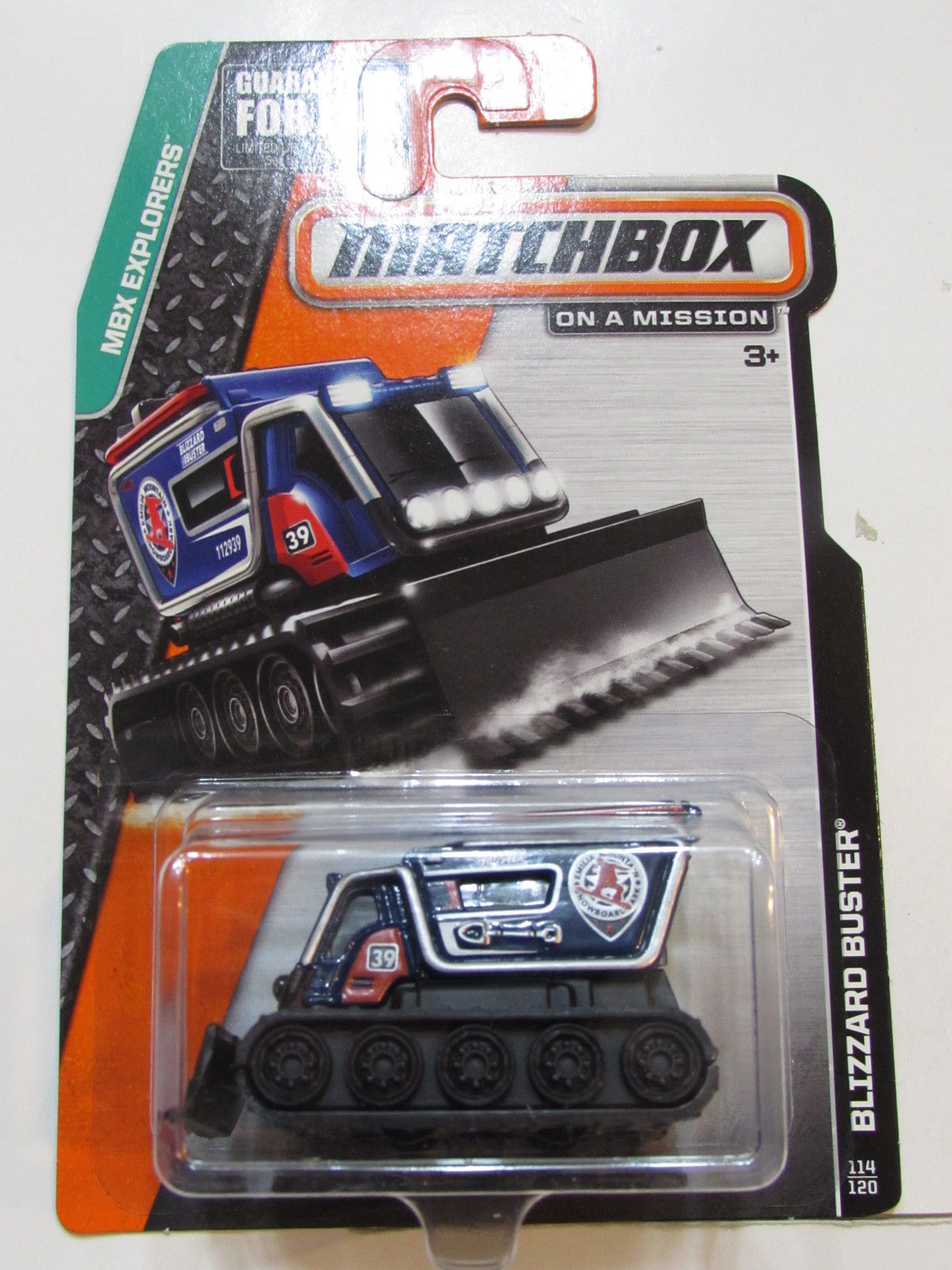 MATCHBOX 2014 ON A MISSION MBX EXPORERS - BLIZZARD BUSTER BLUE