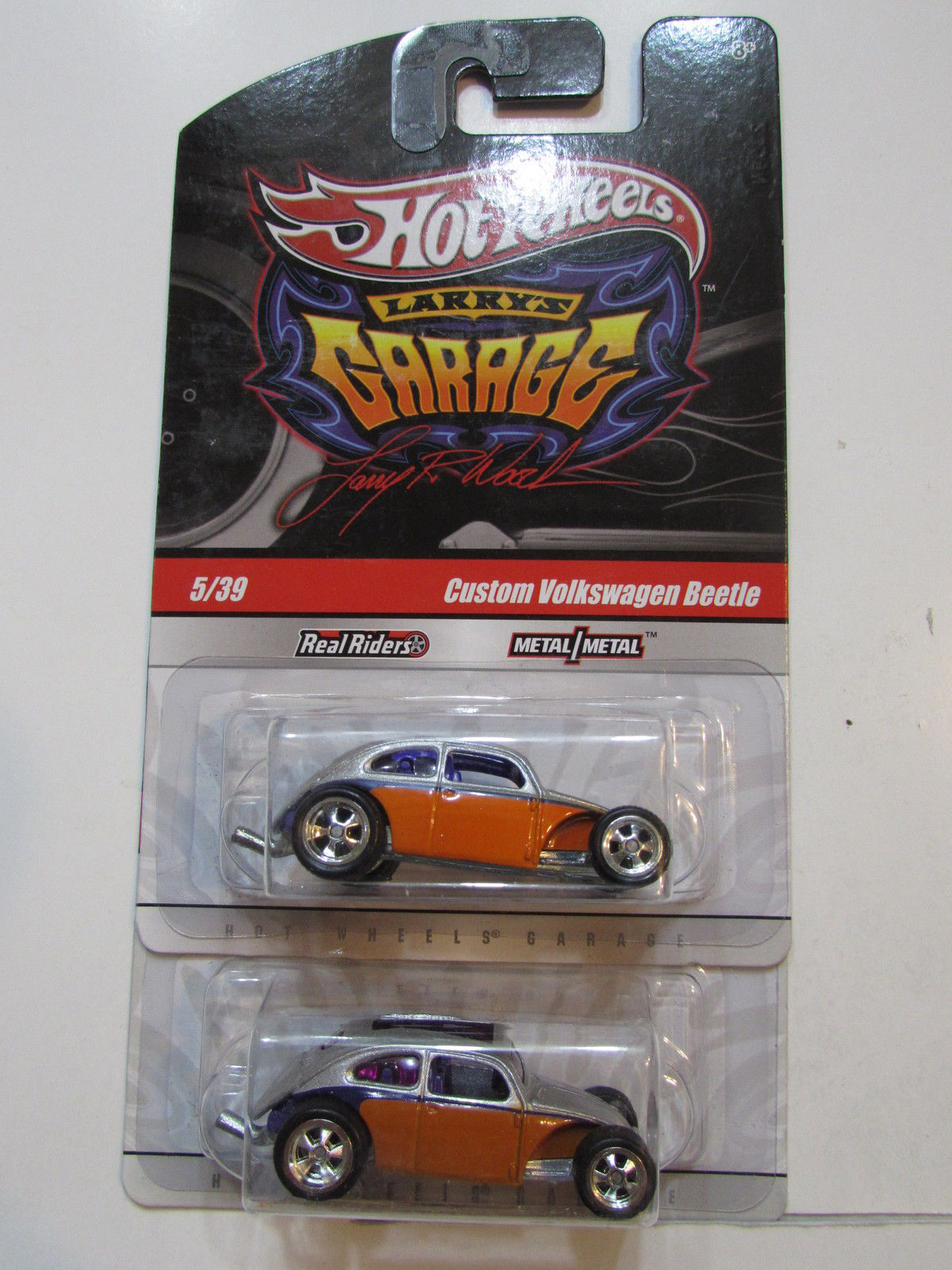 HOT WHEELS LARRY'S GARAGE #5/39 CUSTOM VOLKSWAGEN BEETLE COLOR VARIATION