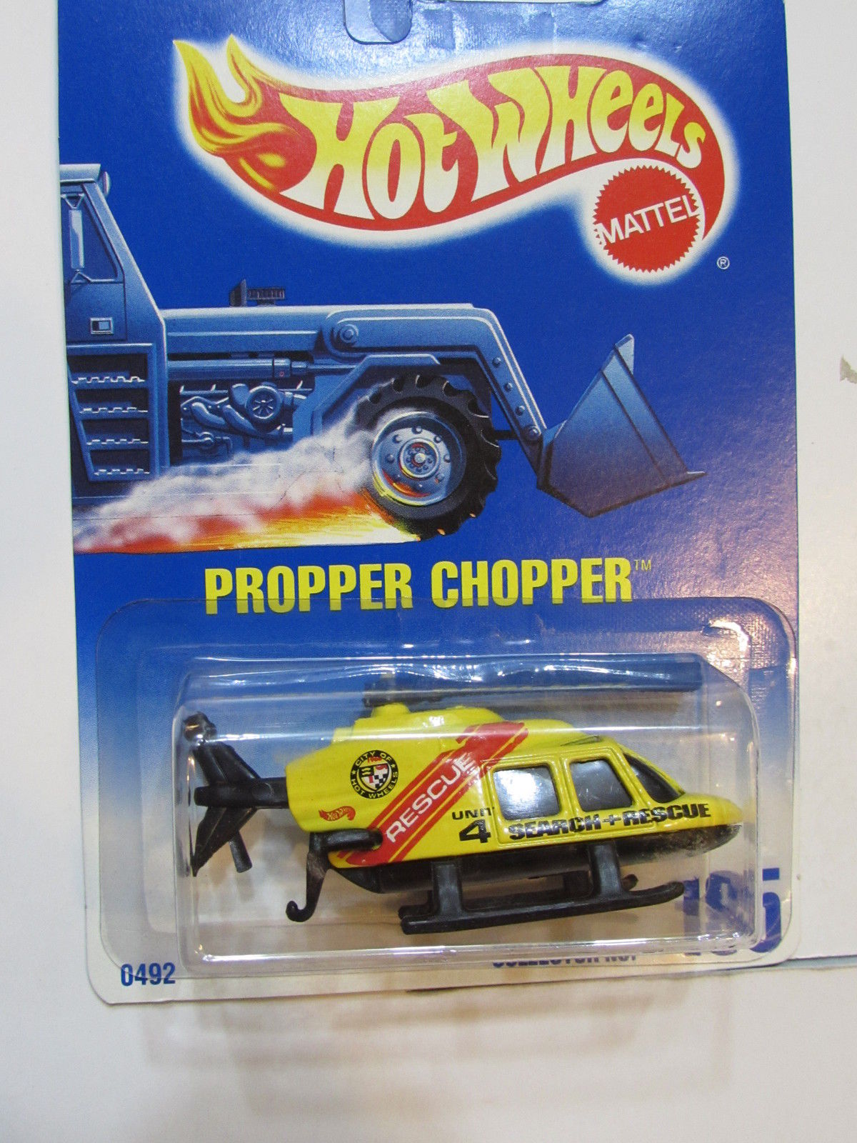 HOT WHEELS 1991 PROPPER CHOPPER #185 BLACK BASE
